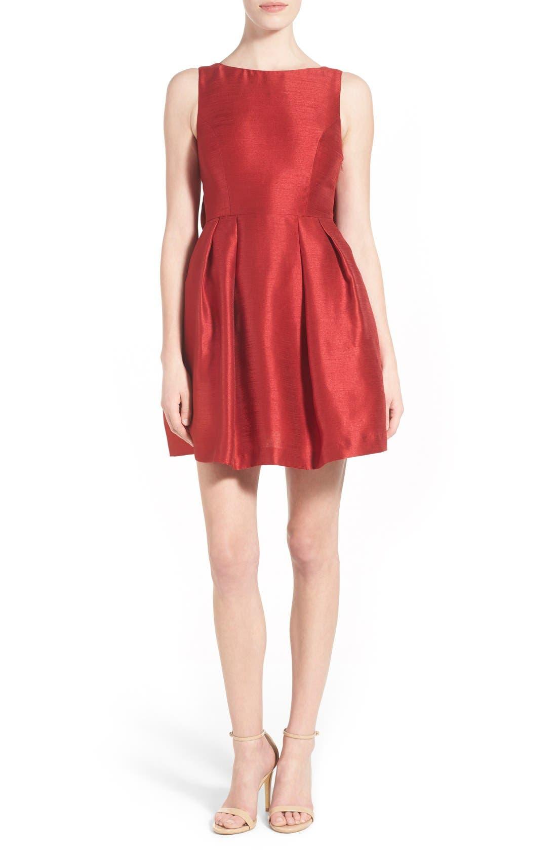 Alternate Image 2  - Soprano Bow Back Fit & Flare Dress