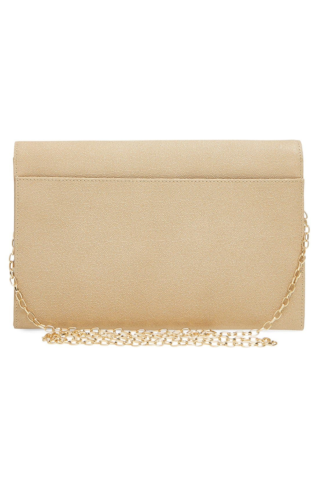 Alternate Image 3  - Halogen® Angled Leather Day Clutch