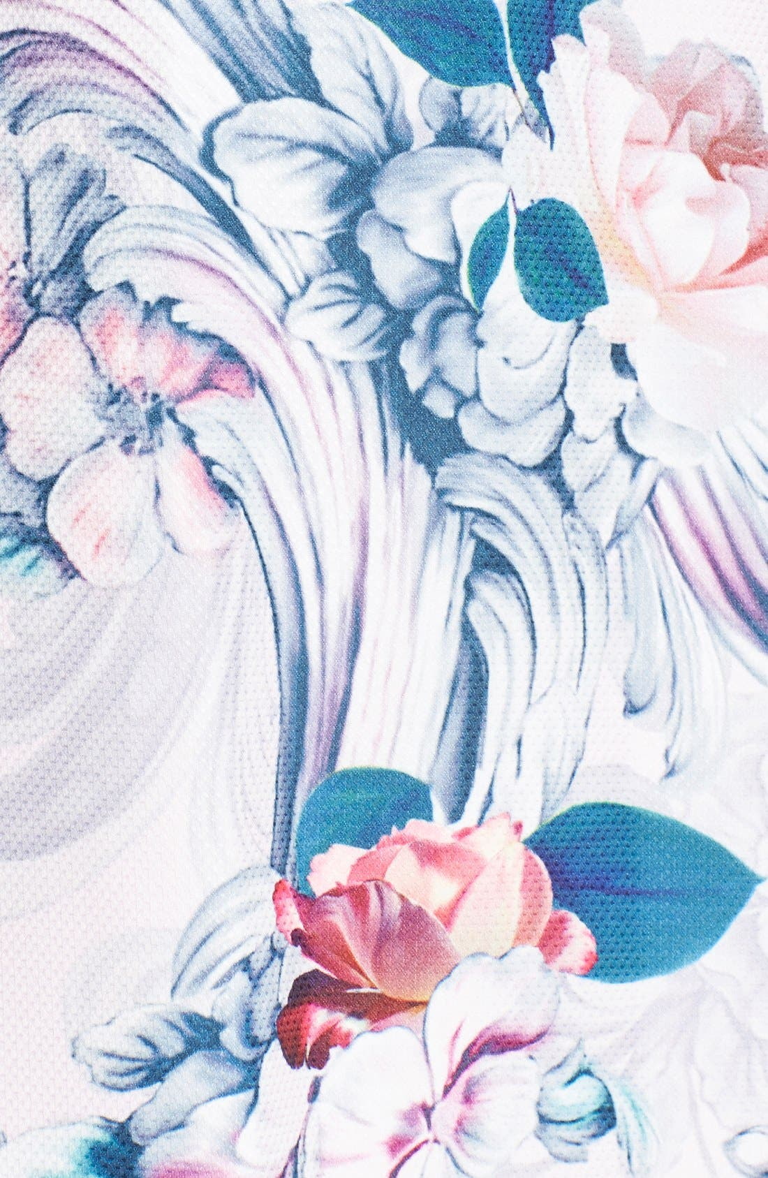 Alternate Image 5  - Ted Baker London 'Eilah' Acanthus Scroll Floral Print Fit & Flare Dress