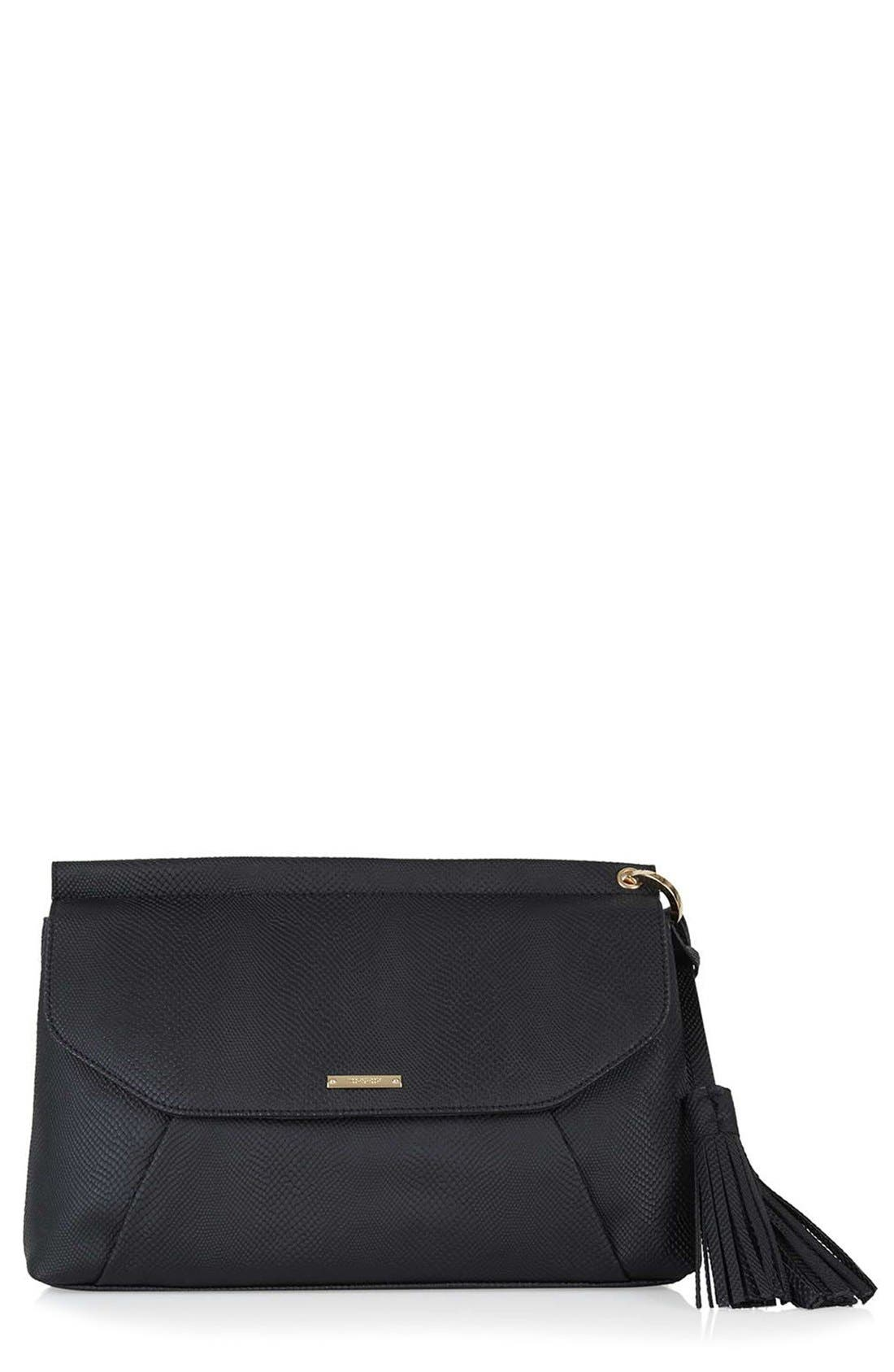 Alternate Image 1 Selected - Topshop Faux Leather Envelope Clutch