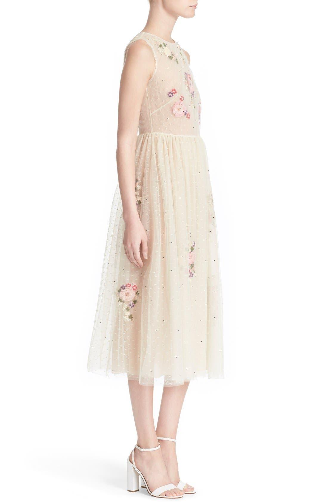Alternate Image 3  - RED Valentino Floral Appliqué Sleeveless Dress
