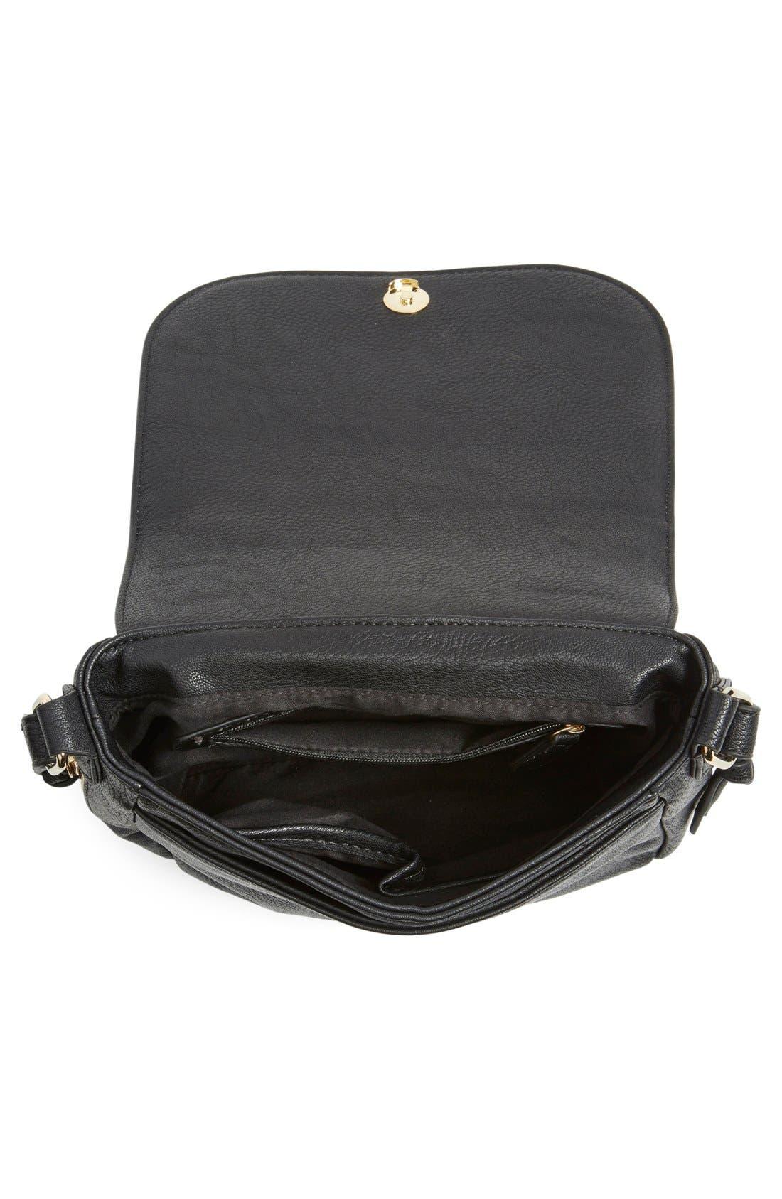 Alternate Image 4  - Big Buddha 'ZJane' Faux Leather Crossbody Flap Bag