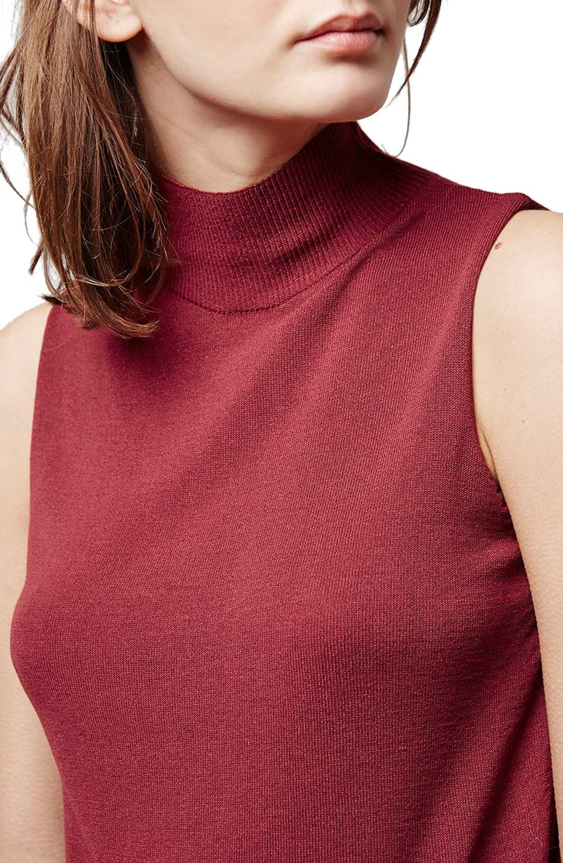Alternate Image 6  - Topshop Sleeveless Funnel Neck Sweater