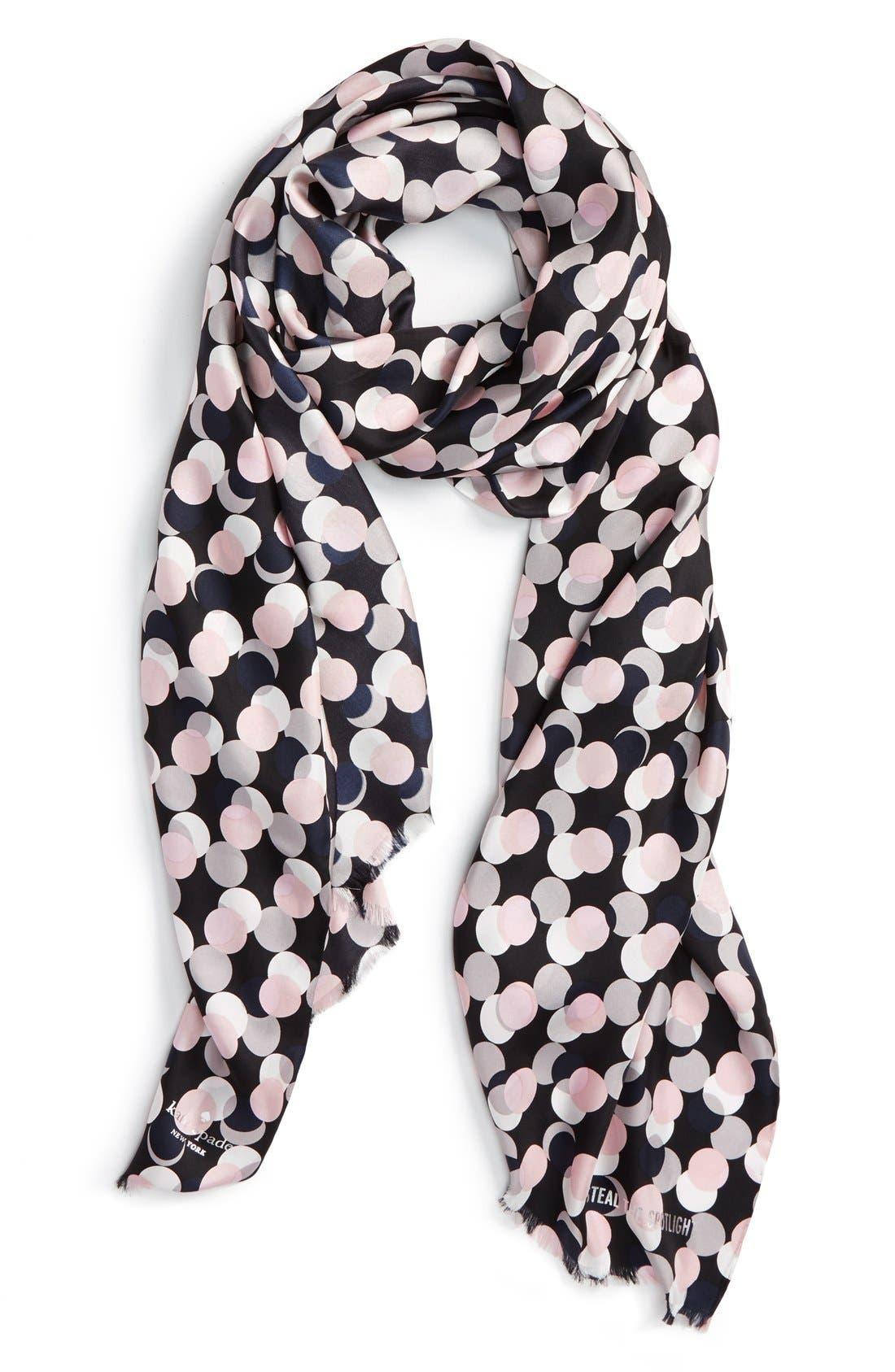 Main Image - kate spade new york 'steal the spotlight' silk scarf