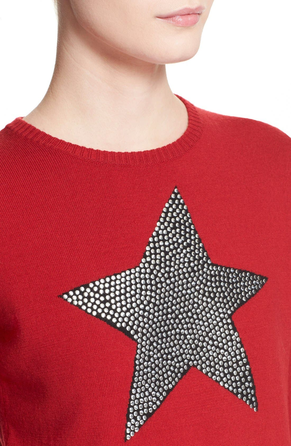 Alternate Image 6  - Bella Freud 'Star Studded' Crewneck Wool Sweater