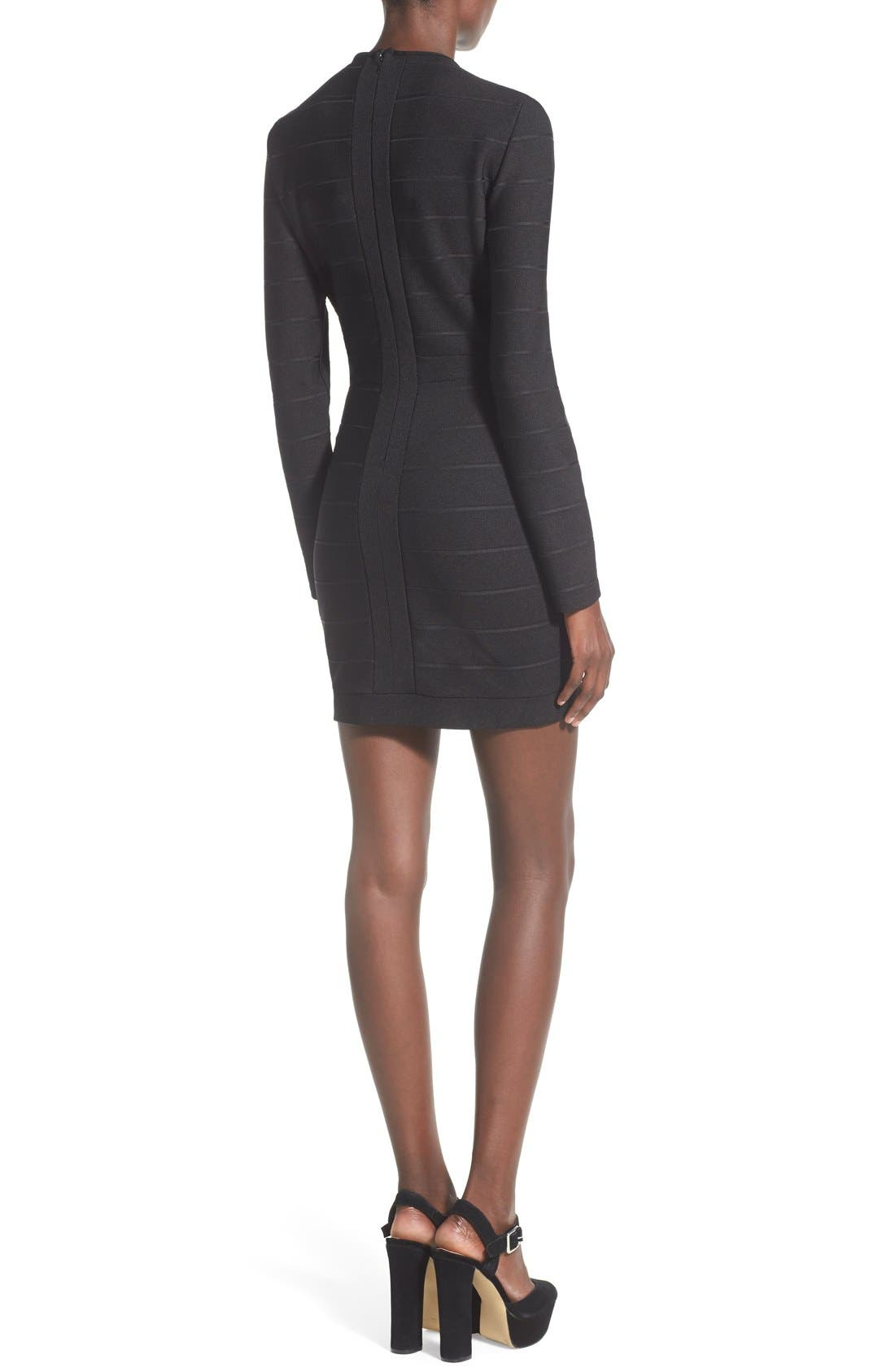 Alternate Image 2  - Missguided Plunge Neck Body-Con Dress