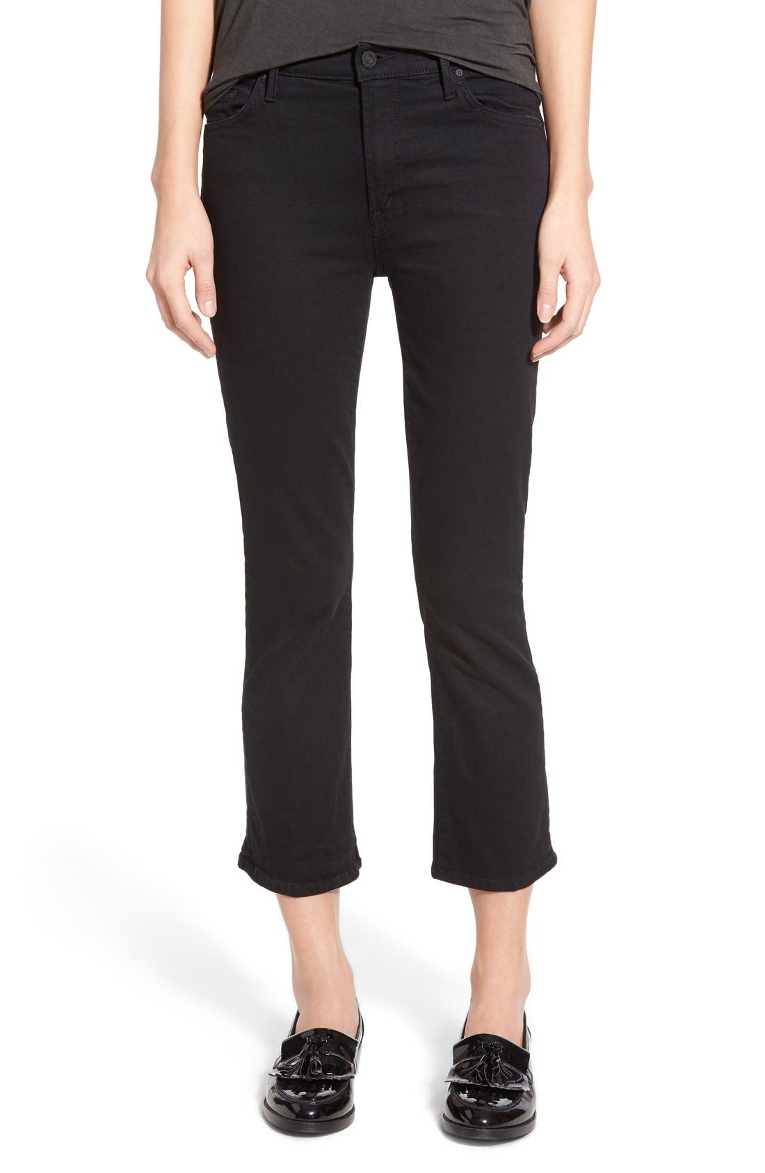 Alternate Image 1 Selected - MOTHER The Insider High Rise Crop Bootcut Jeans (Not Guilty)