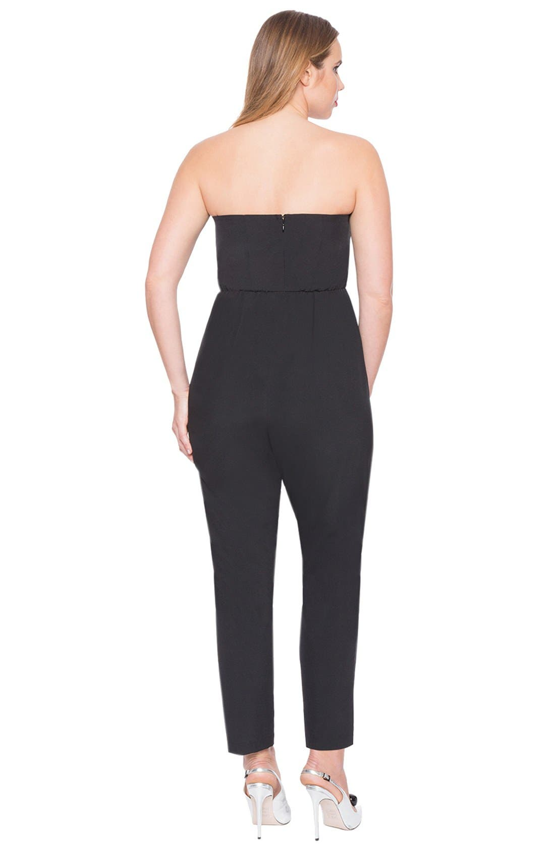 Alternate Image 4  - ELOQUII Strapless Jumpsuit with Detachable Skirt (Plus Size)