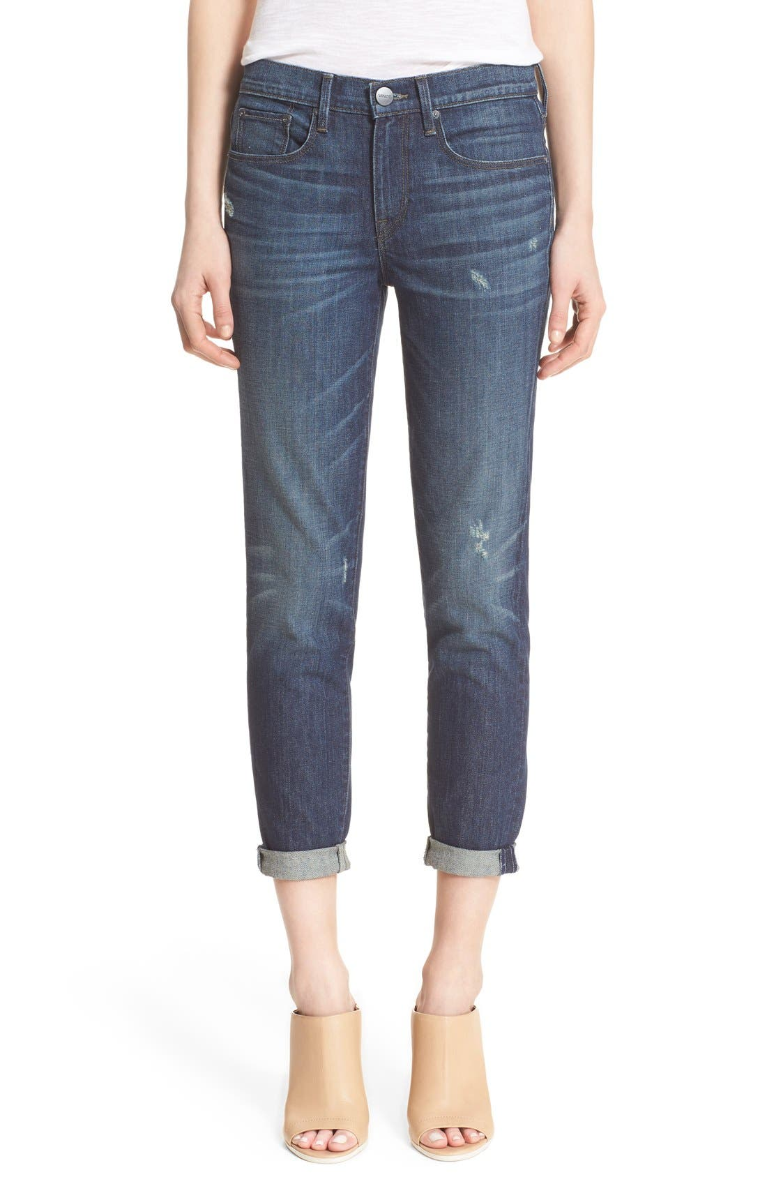 Alternate Image 1 Selected - Vince 'Mason' Relaxed Rolled Jeans (Hyperion Ave)