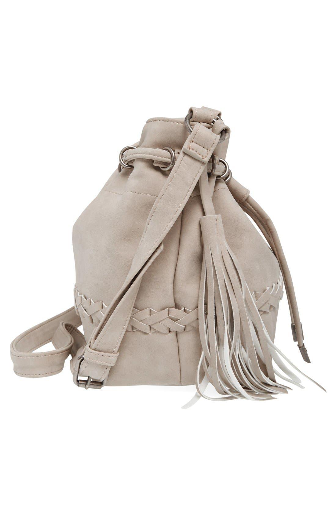 Alternate Image 5  - Dolce Girl Woven Detail Bucket Bag