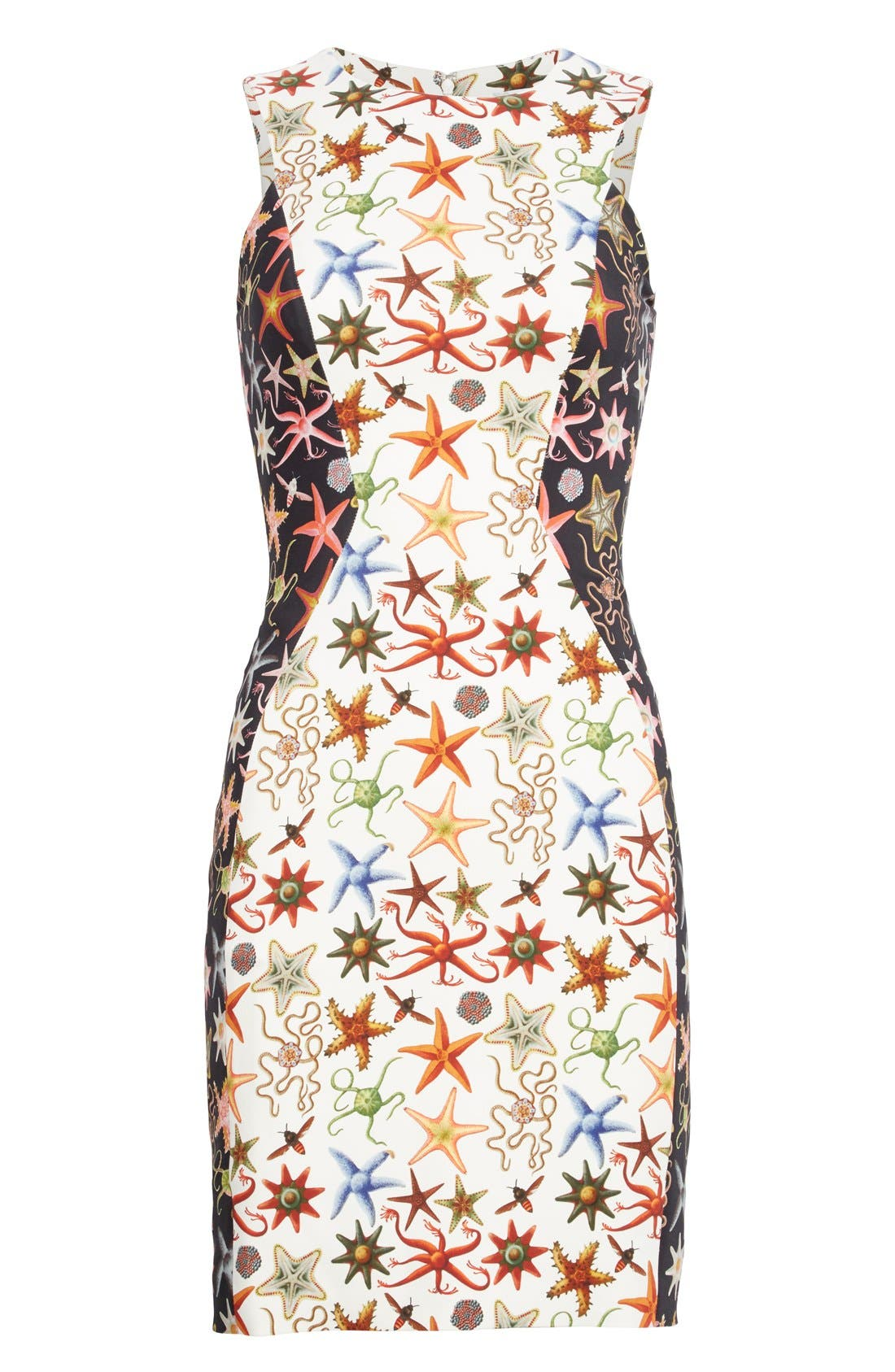 Alternate Image 4  - Versace Collection Starfish Print Bicolor Sheath Dress