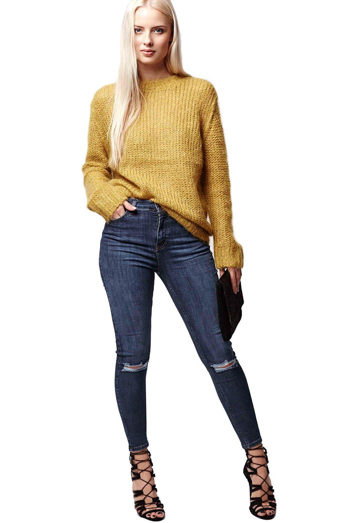 Alternate Image 2  - Topshop Moto 'Jamie' Ripped Skinny Jeans