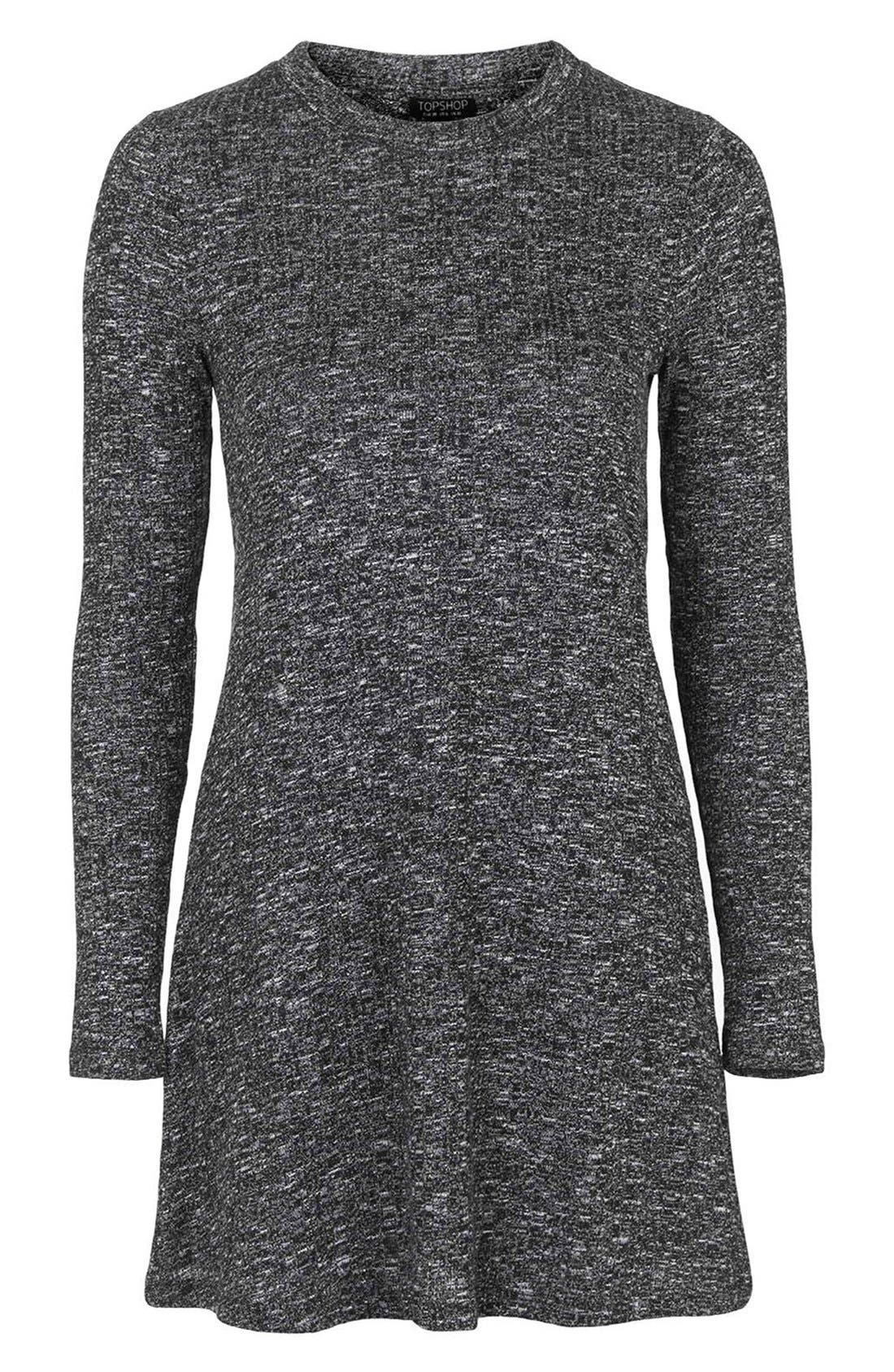 Alternate Image 4  - Topshop Ribbed Long Sleeve Tunic Dress