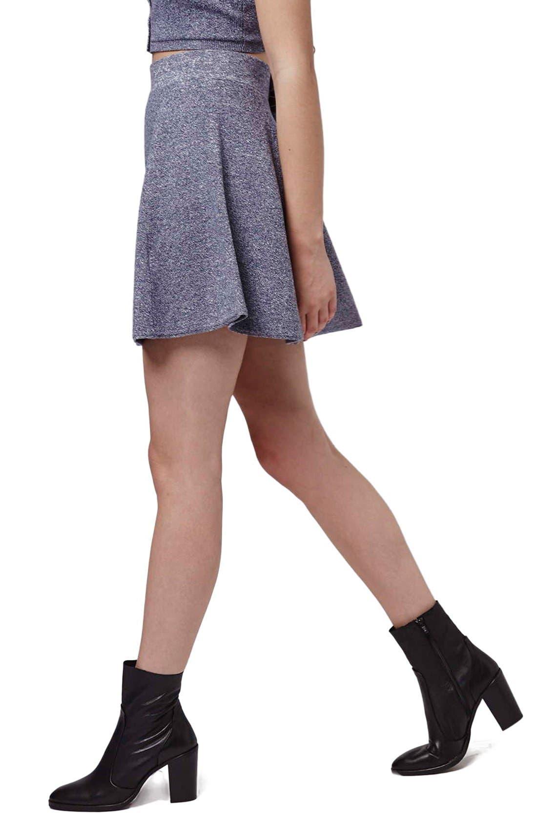 Alternate Image 4  - Topshop Flippy A-Line Skirt