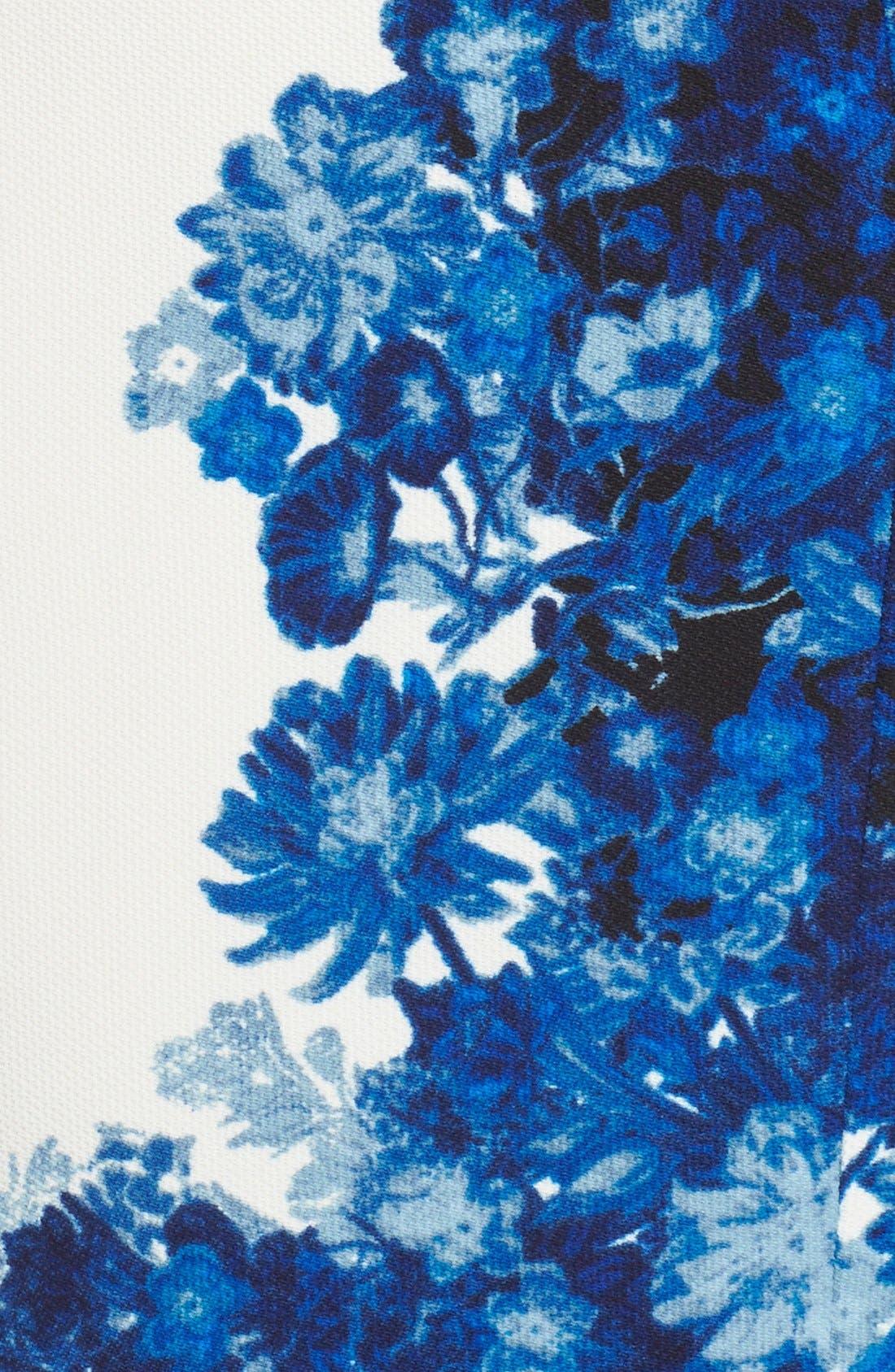 Alternate Image 6  - Adrianna Papell Floral Print Waffle Piqué Sheath Dress (Regualr & Petite)