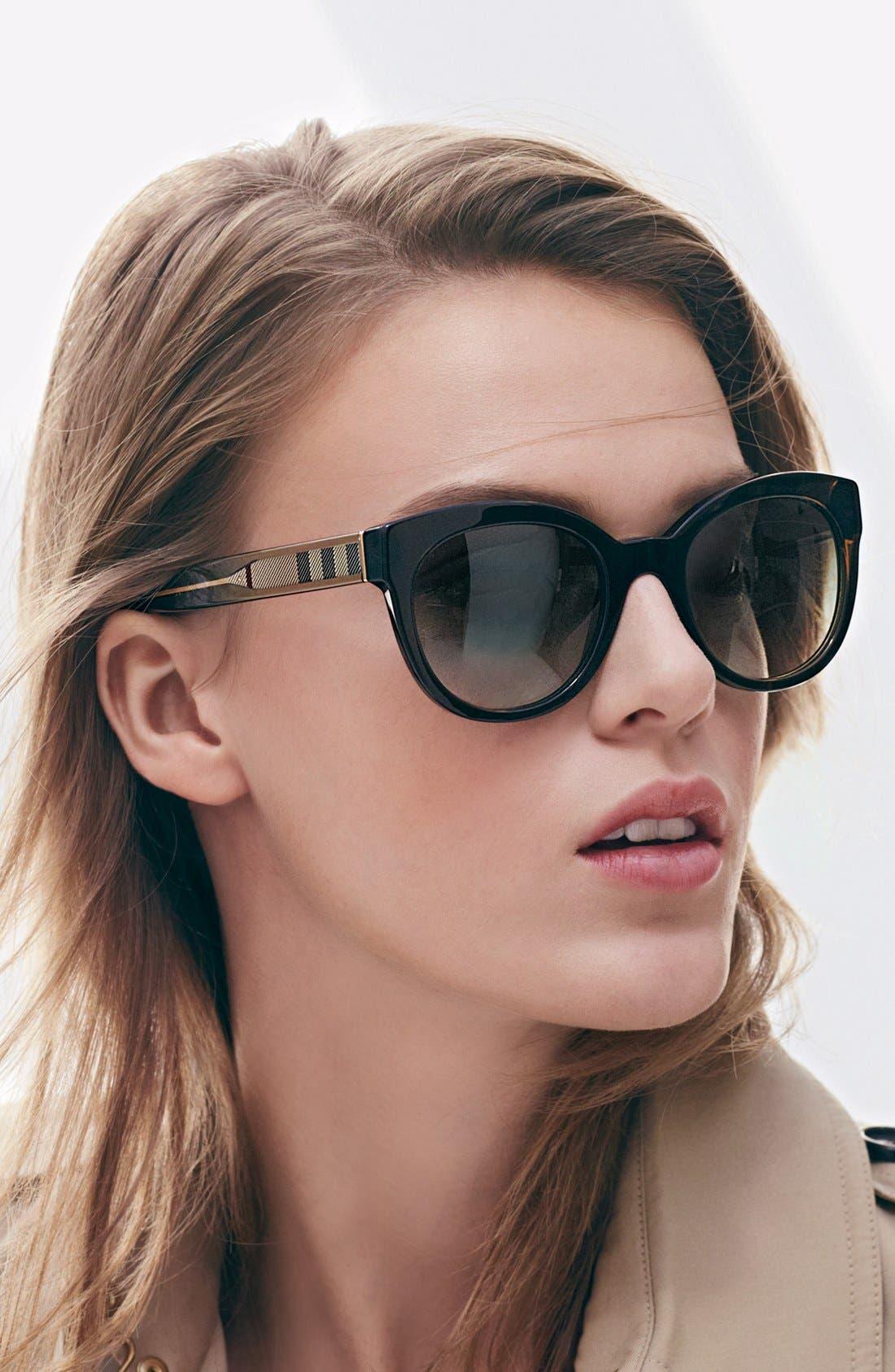 Alternate Image 4  - Burberry 52mm Retro Sunglasses
