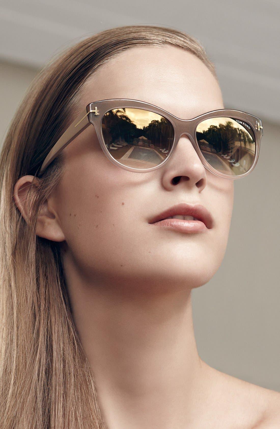 Alternate Image 3  - Tom Ford 'Lily' 56mm Cat Eye Sunglasses
