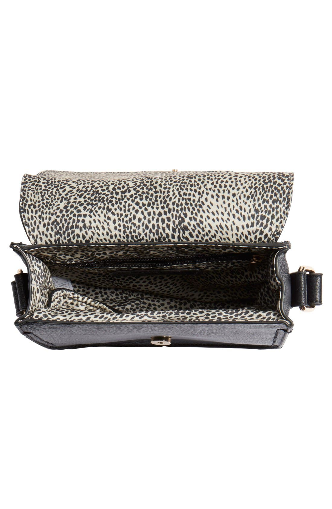 Alternate Image 4  - Sole Society 'Saylah' Structured Faux Leather Crossbody Bag