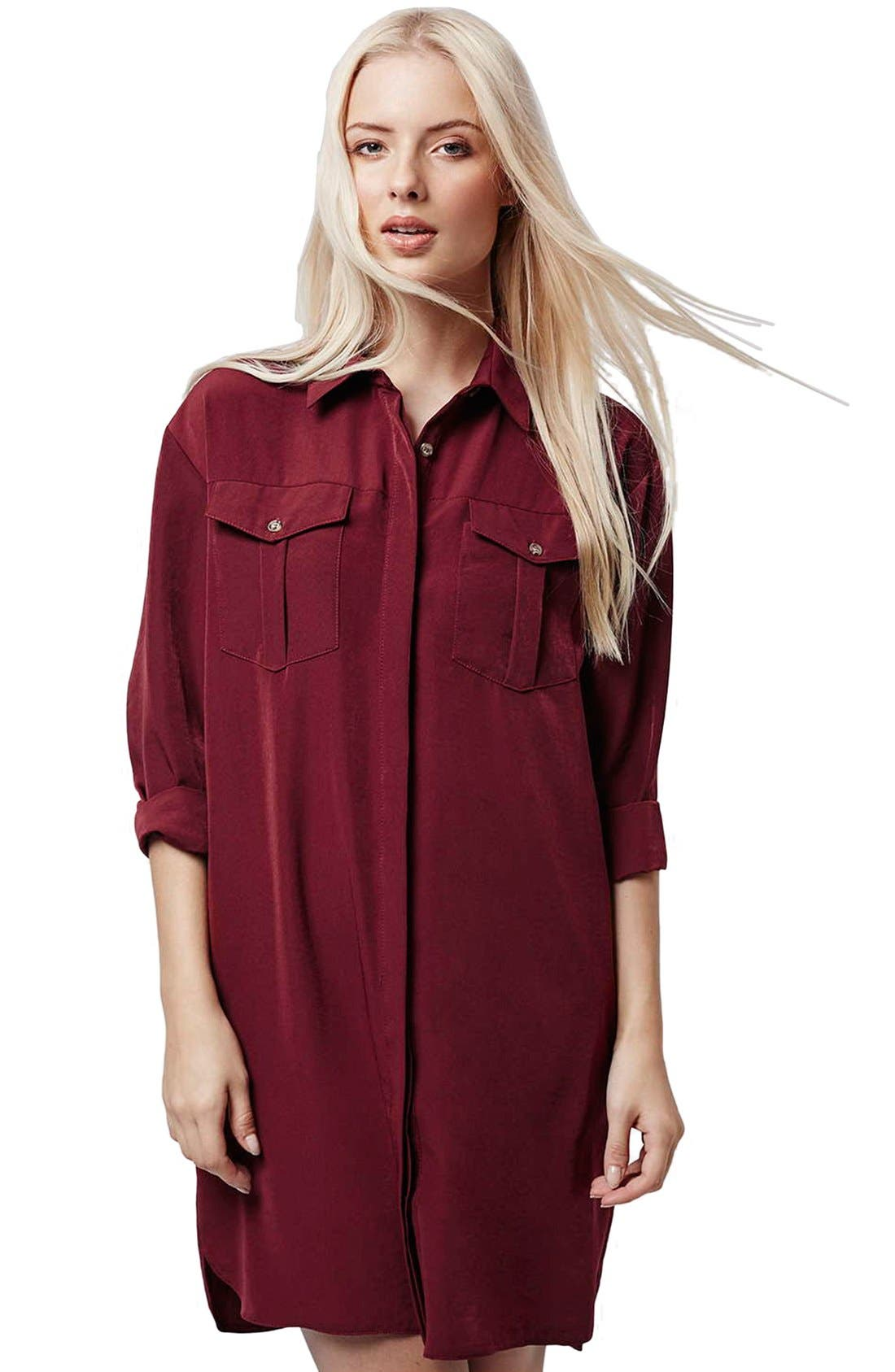 Alternate Image 3  - Topshop Oversize Shirtdress