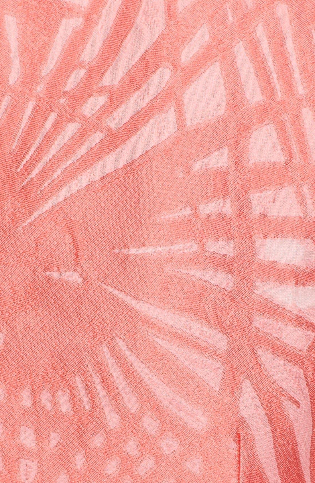 Alternate Image 3  - Lela Rose Floral Organza V-Neck Dress