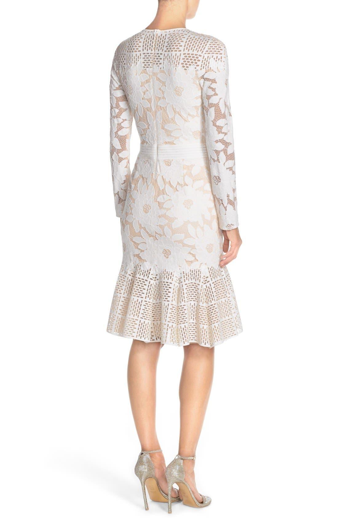 Alternate Image 2  - Tadashi Shoji Lace & Cutout Neoprene Sheath Dress