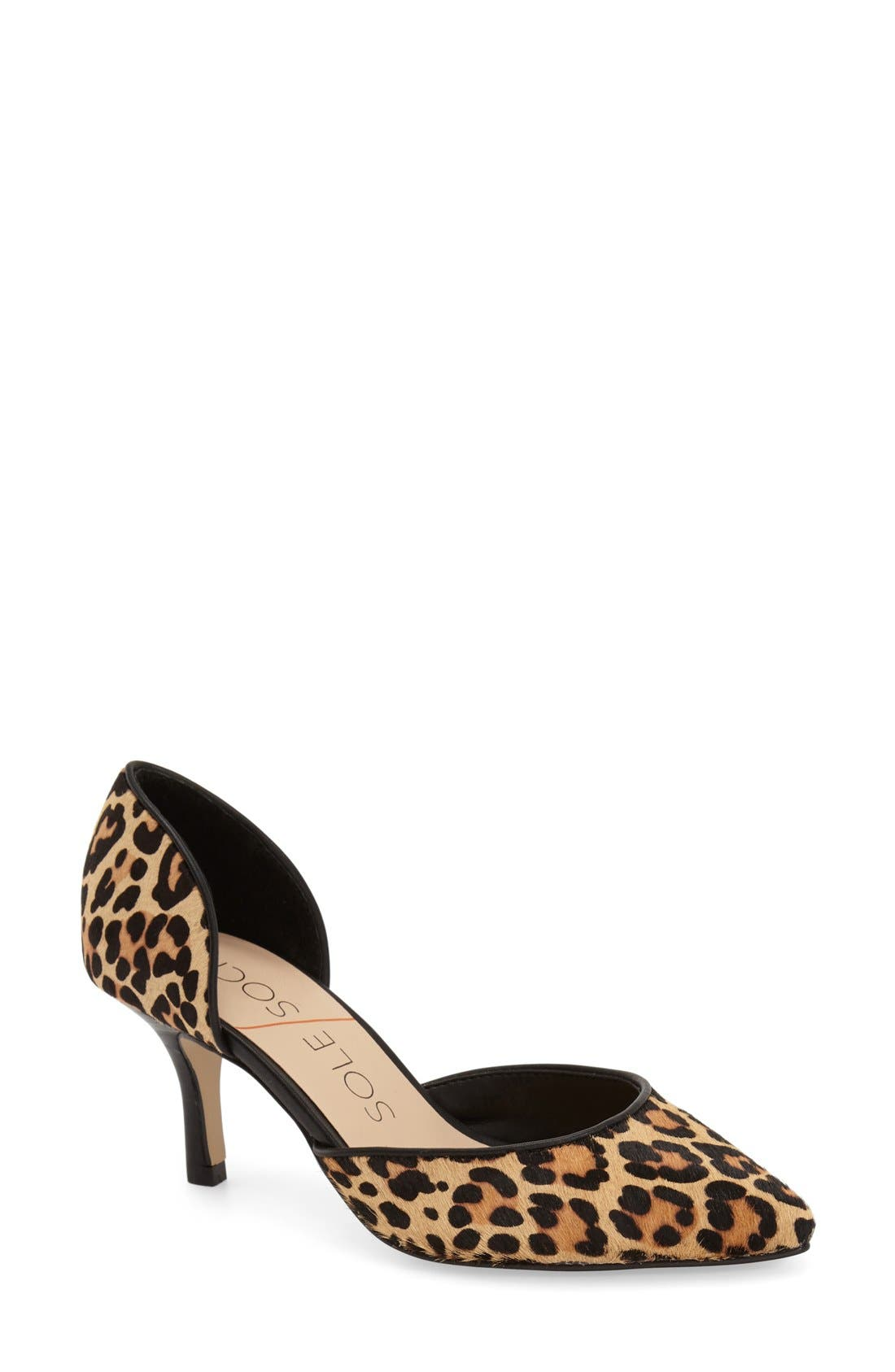 Main Image - Sole Society 'Reymina' Genuine Calf Hair d'Orsay Pointy Toe Pump (Women)