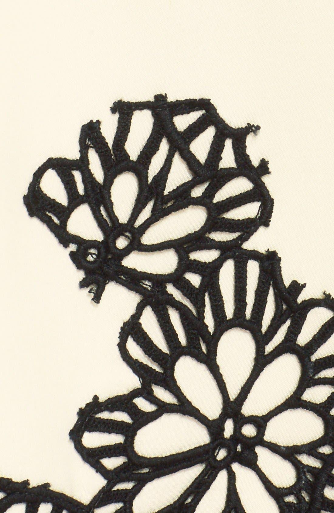 Alternate Image 3  - Lela Rose Guipure Lace Hem Dress