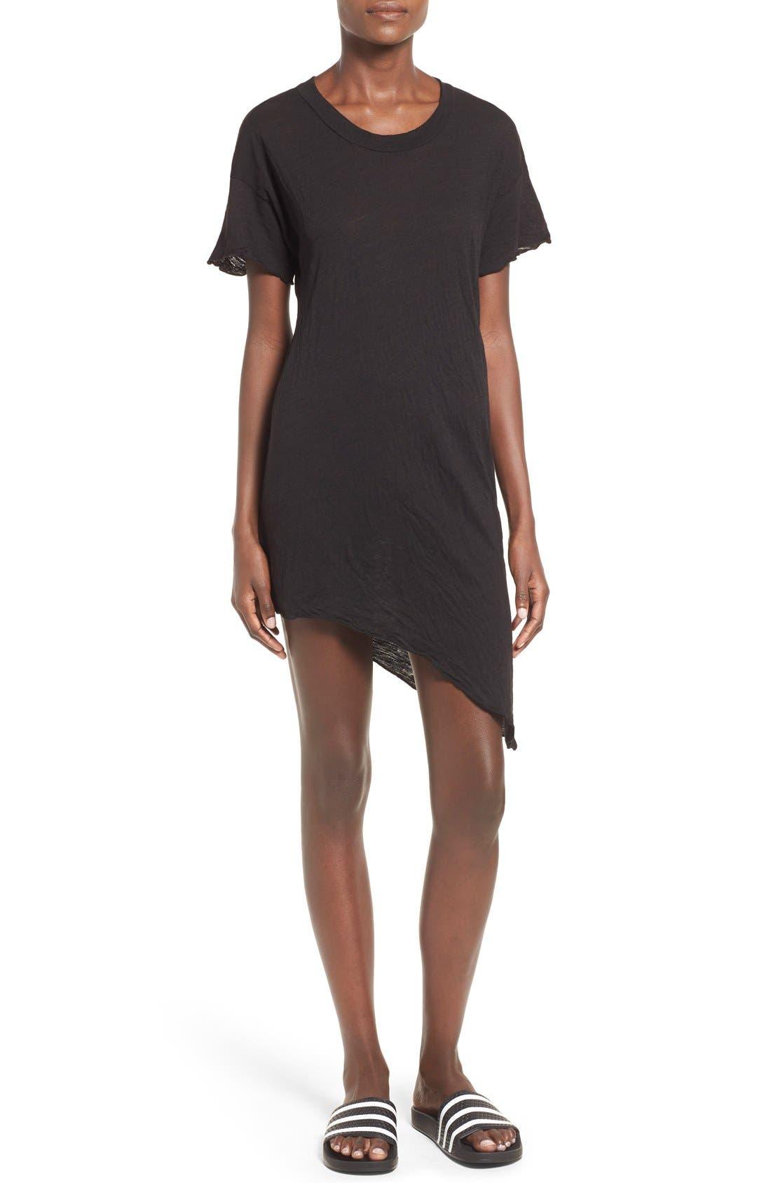 Main Image - LNA Asymmetrical Hem Shift Dress