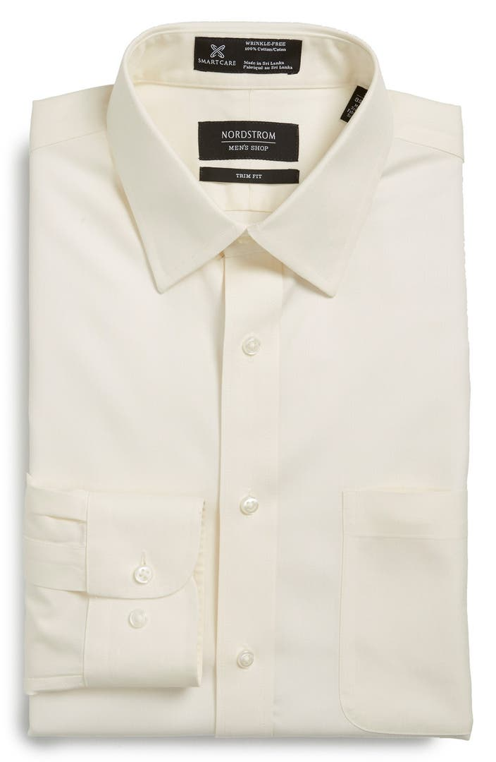 Nordstrom men 39 s shop smartcare wrinkle free herringbone Best wrinkle free dress shirts