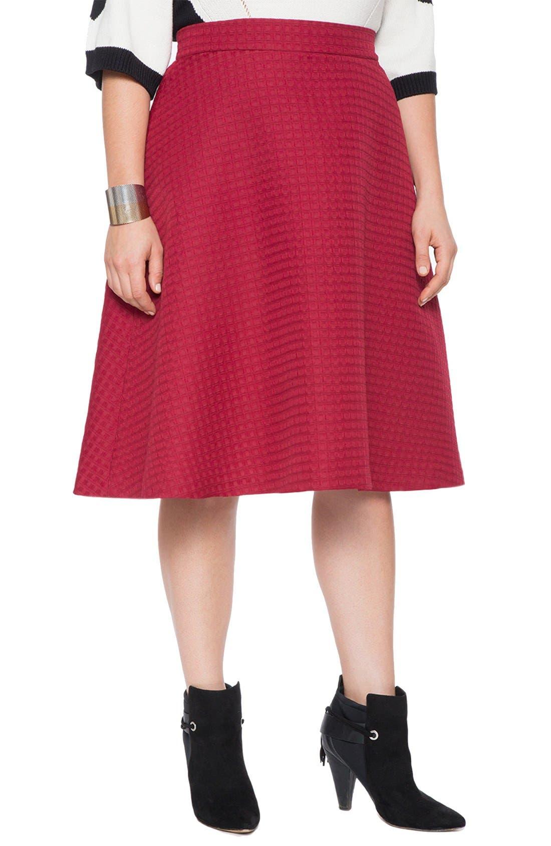 Alternate Image 1 Selected - ELOQUII Brocade Circle Skirt (Plus Size