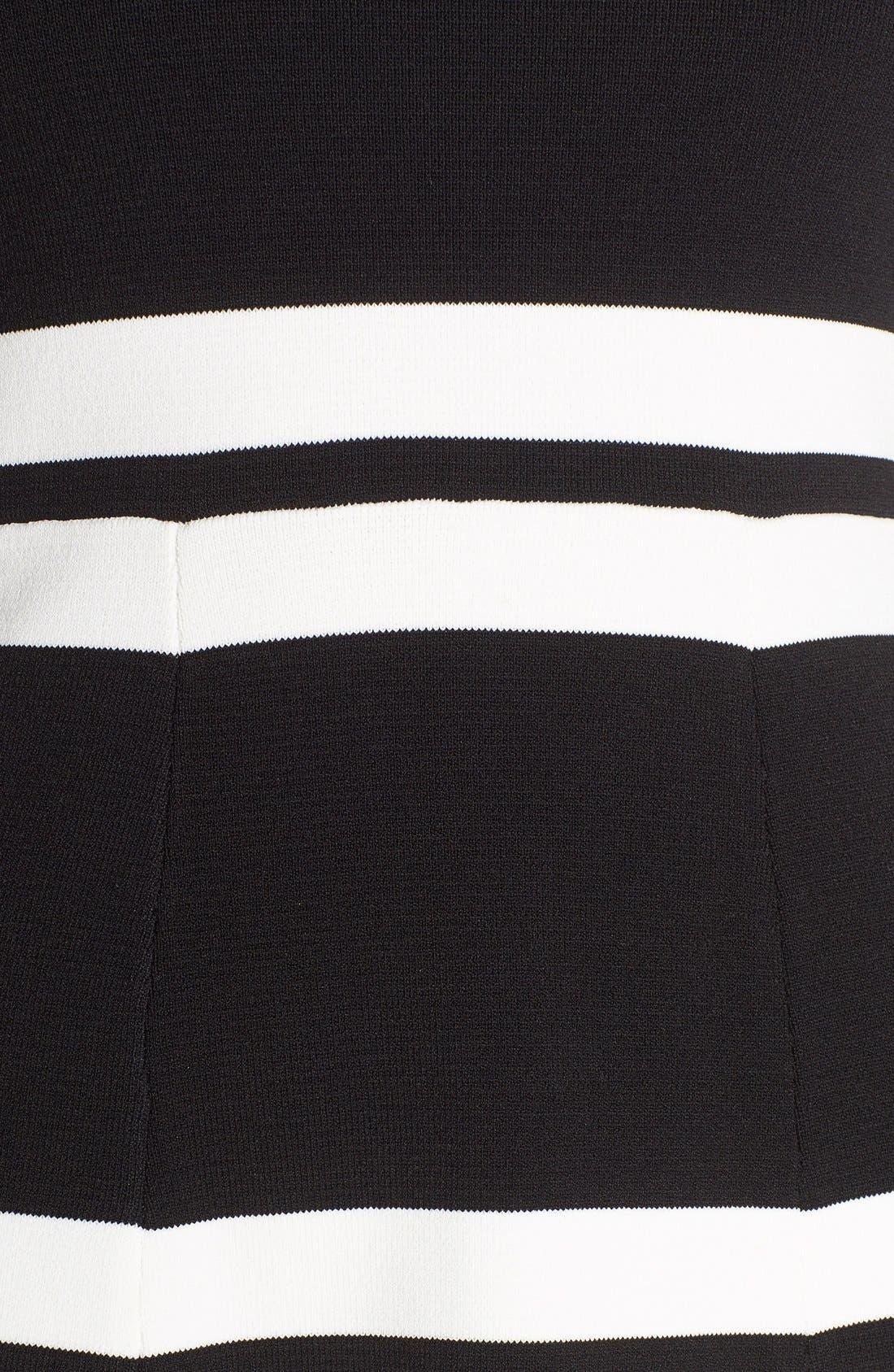 Alternate Image 5  - Eliza J Stripe Sweater Fit & Flare Dress (Regular & Petite)