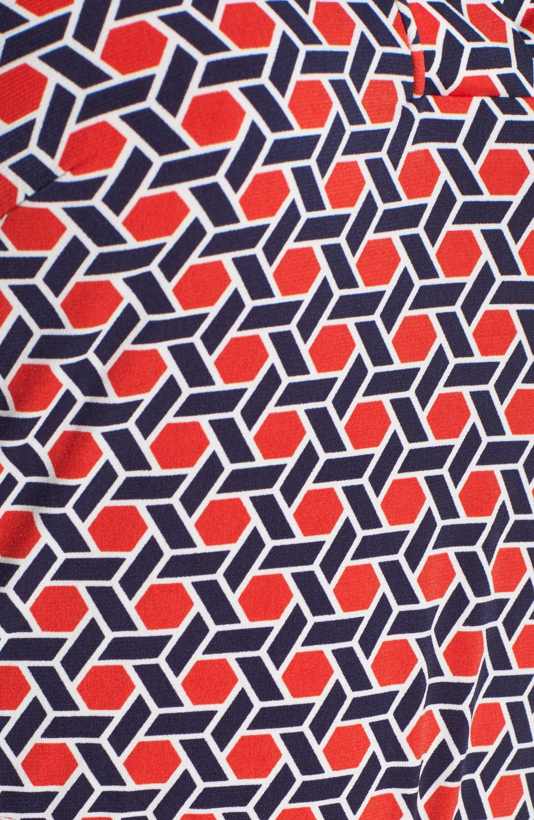Alternate Image 5  - Laundry by Shelli Segal Print Jersey Shirtdress