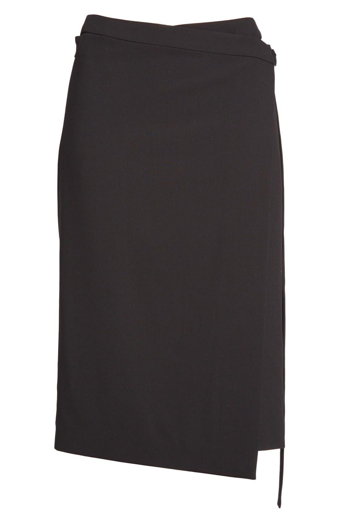 Alternate Image 4  - Michael Kors Belted Wool Wrap Skirt