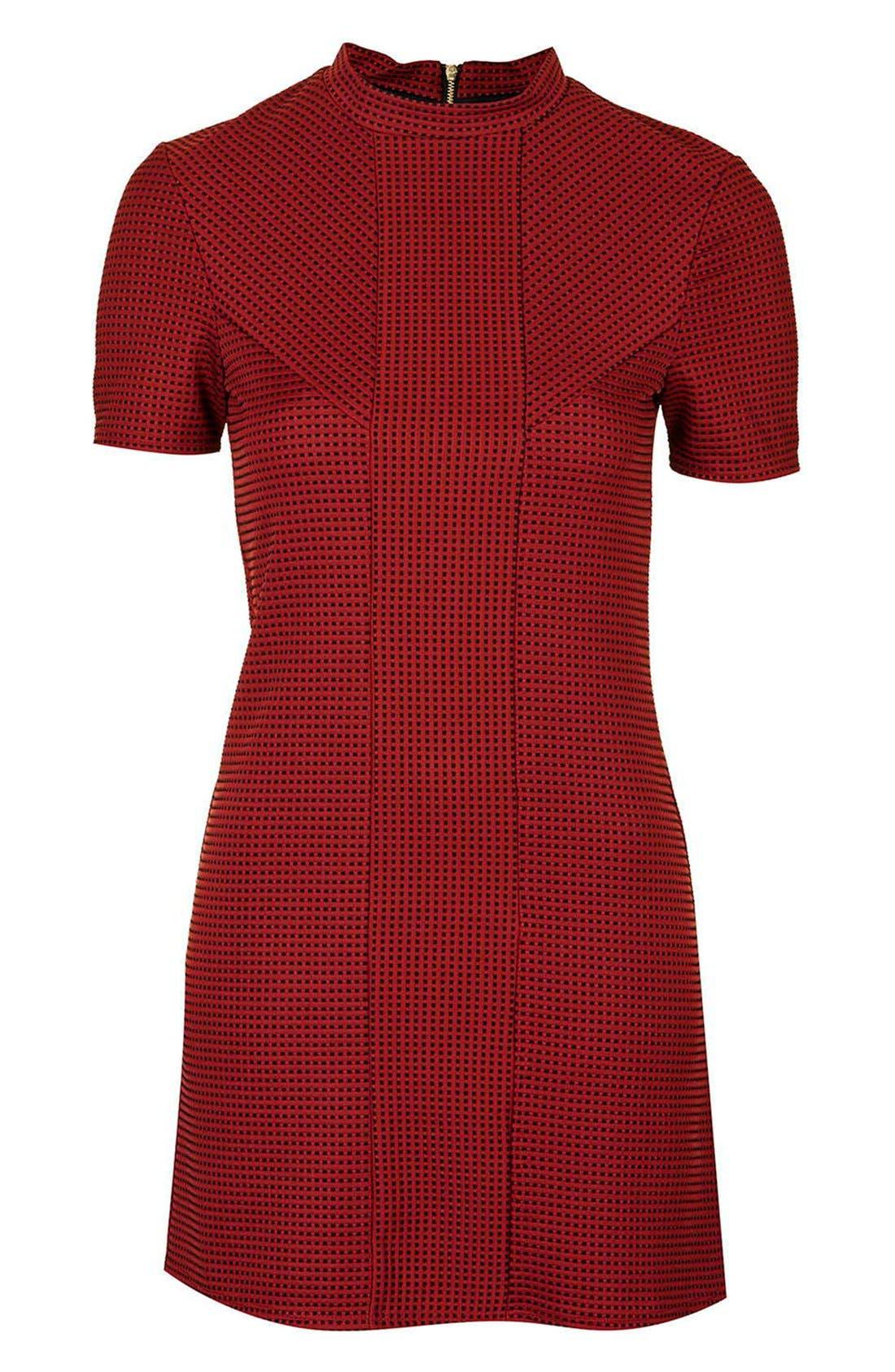 Alternate Image 4  - Topshop Textured A-Line Dress