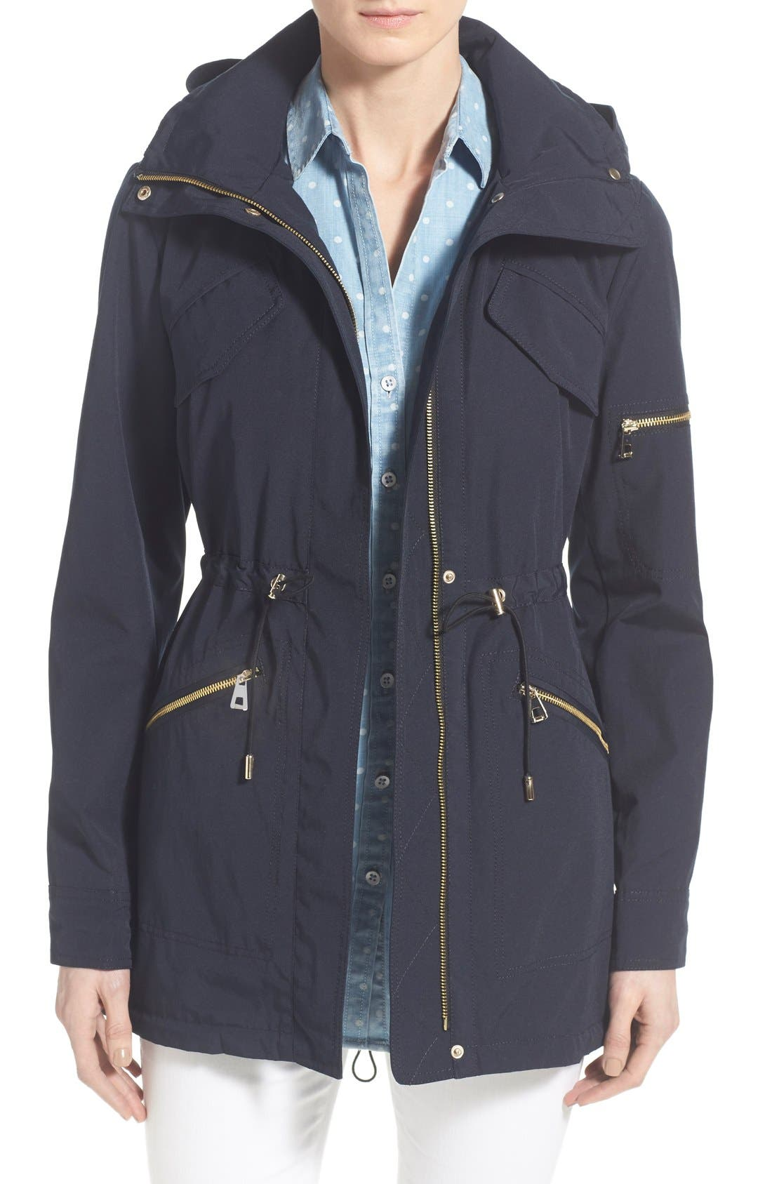 Vince Camuto Drawstring Drop Tail Jacket