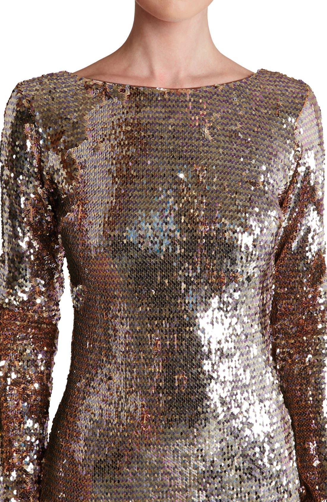 Alternate Image 4  - Dress the Population 'Lola' Backless Sequin Minidress