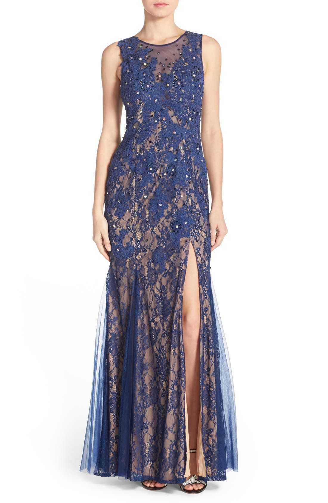 Alternate Image 1 Selected - Sean Collection Embellished Lace Gown
