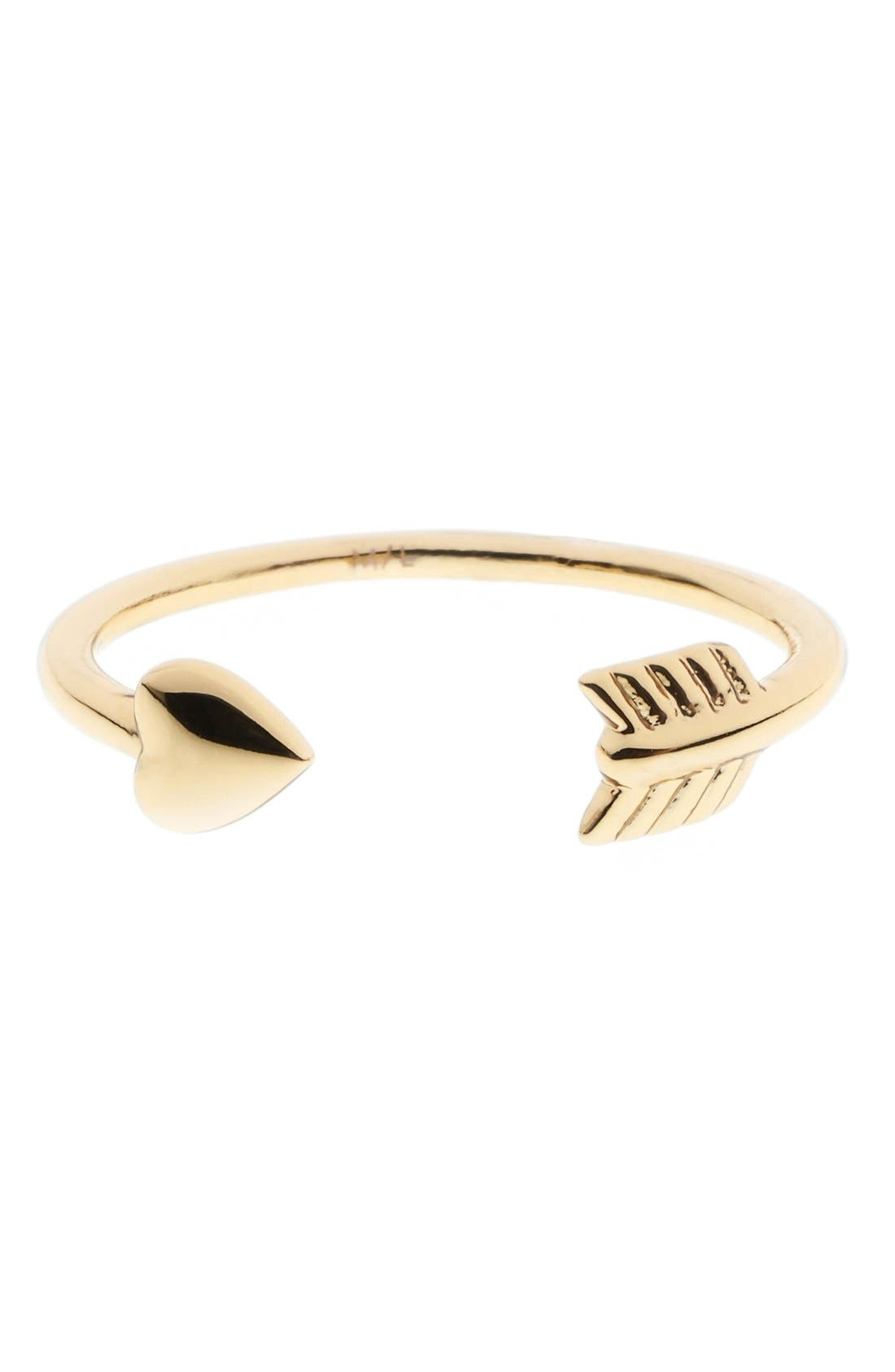 Alternate Image 1 Selected - Ted Baker London 'Cupid's Arrow' Open Ring