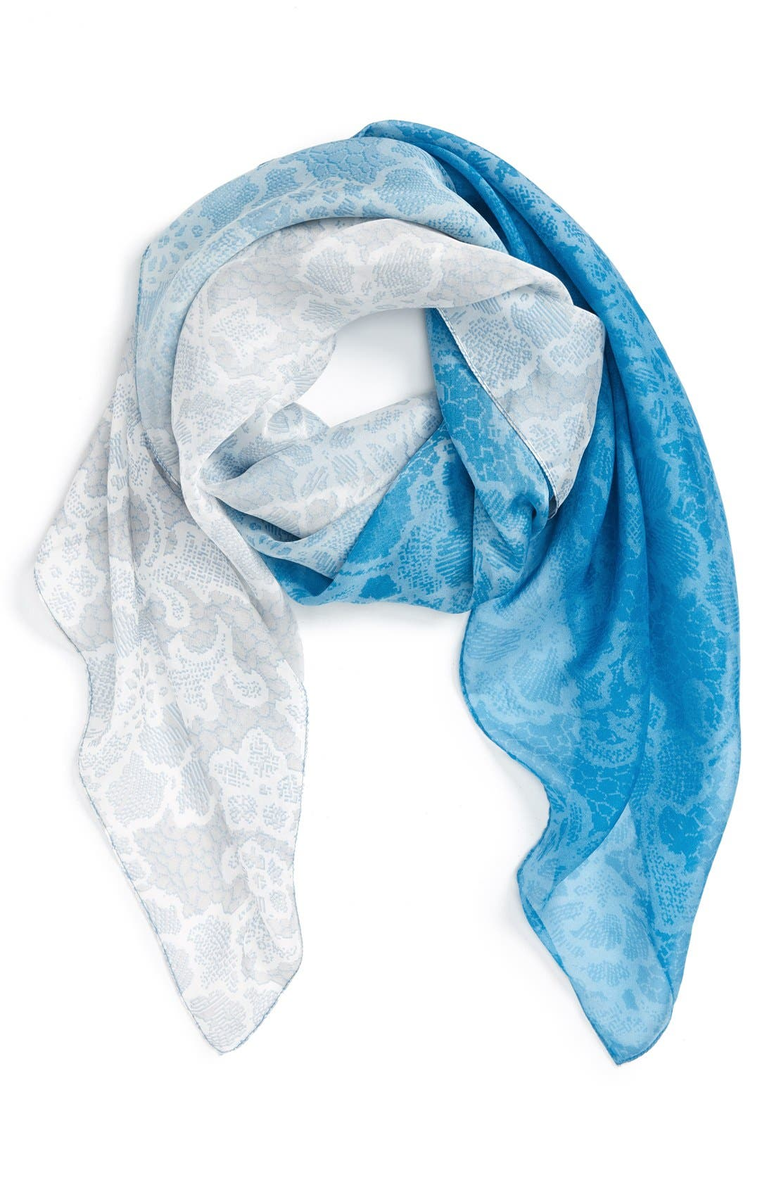 Alternate Image 1 Selected - Nordstrom 'Lace Haze' Silk Chiffon Square Scarf