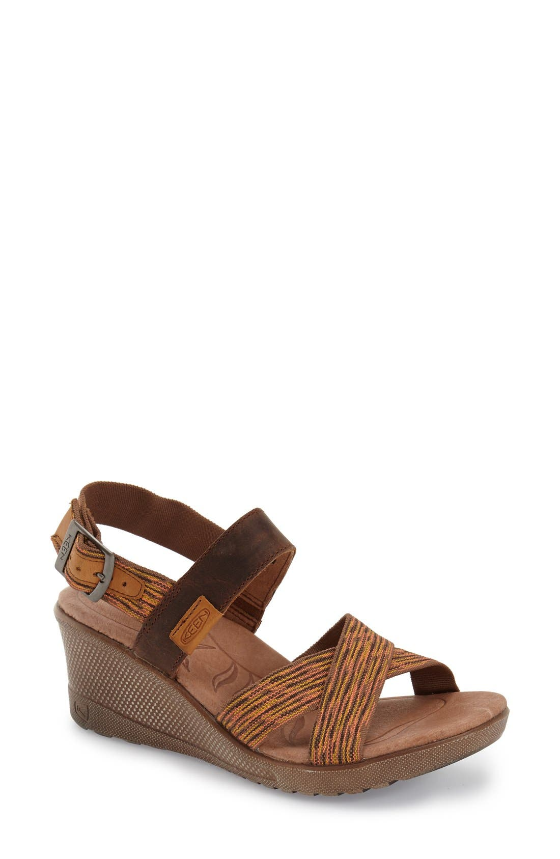 Keen 'Skyline' Slingback Wedge Sandal (Women)