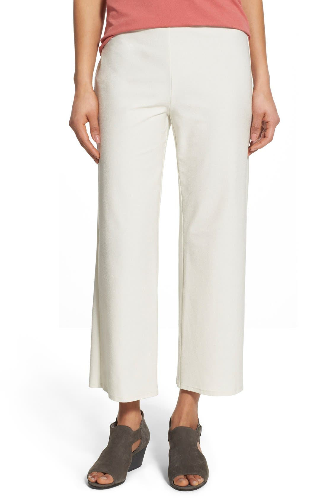 Eileen Fisher Washable Stretch Crepe Crop Pants