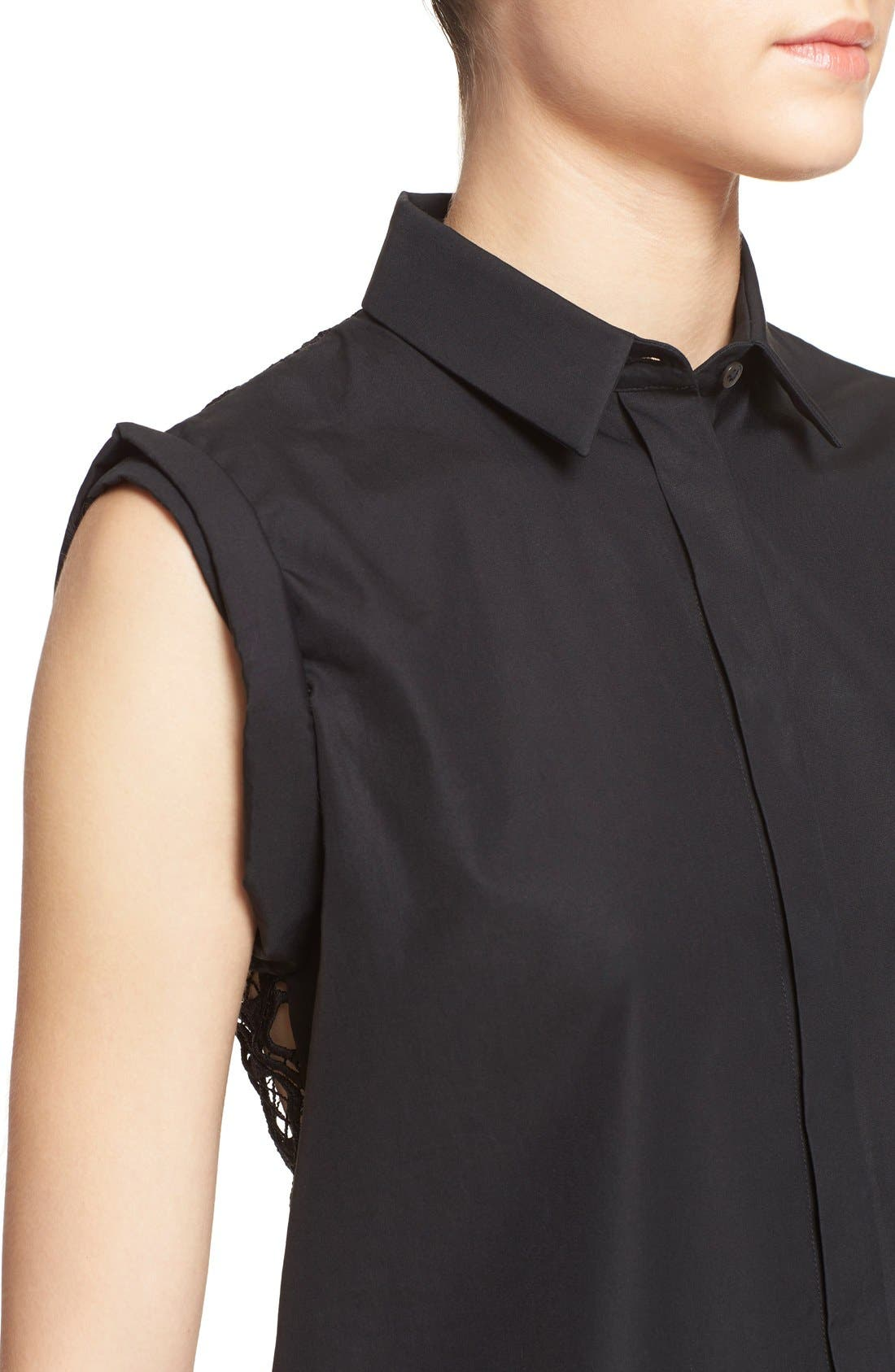 Alternate Image 4  - N°21 'Cassandra' Lace Back Sleeveless Shirt