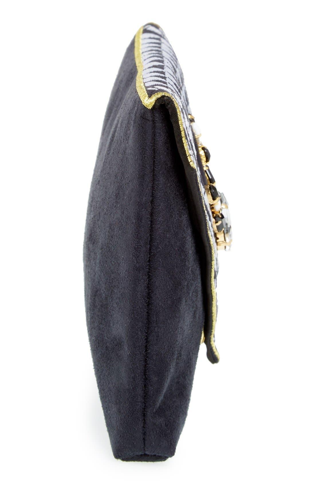 Alternate Image 5  - Shiraleah 'Micha' Embellished Velvet Envelope Clutch