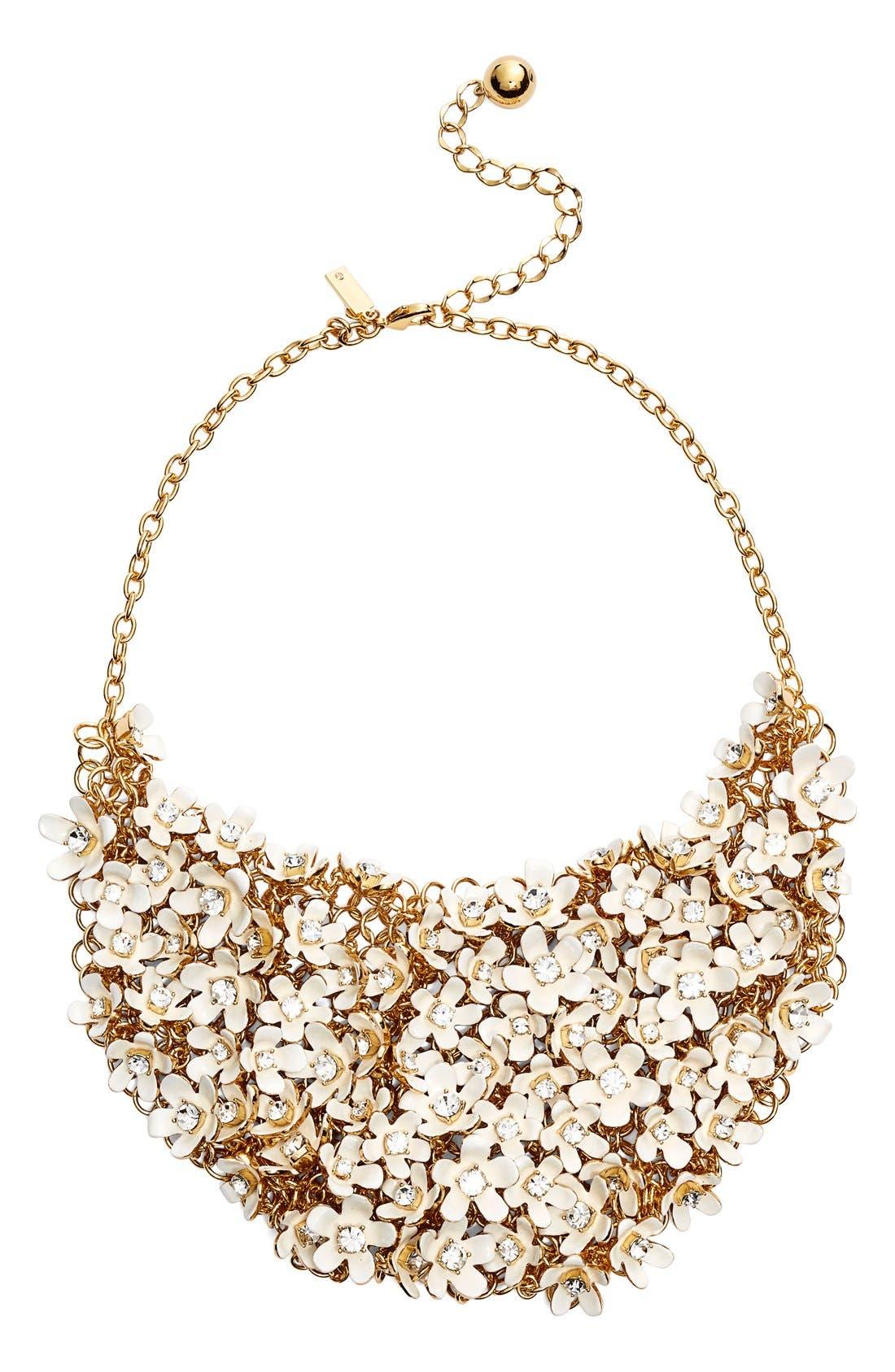 Alternate Image 1 Selected - kate spade new 'pretty petals' embellished bib necklace