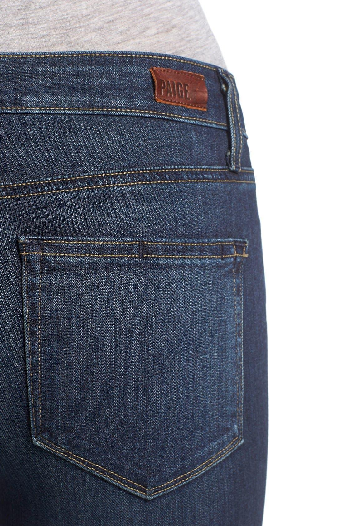 Alternate Image 4  - Paige Denim 'Transcend - Verdugo' Ankle Ultra Skinny Jeans (Nottingham) (Petite)