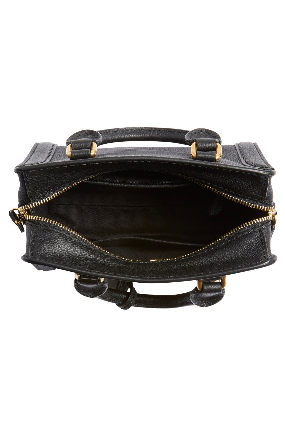 Alternate Image 4  - Alexander McQueen 'Mini Padlock' Calfskin Leather Satchel