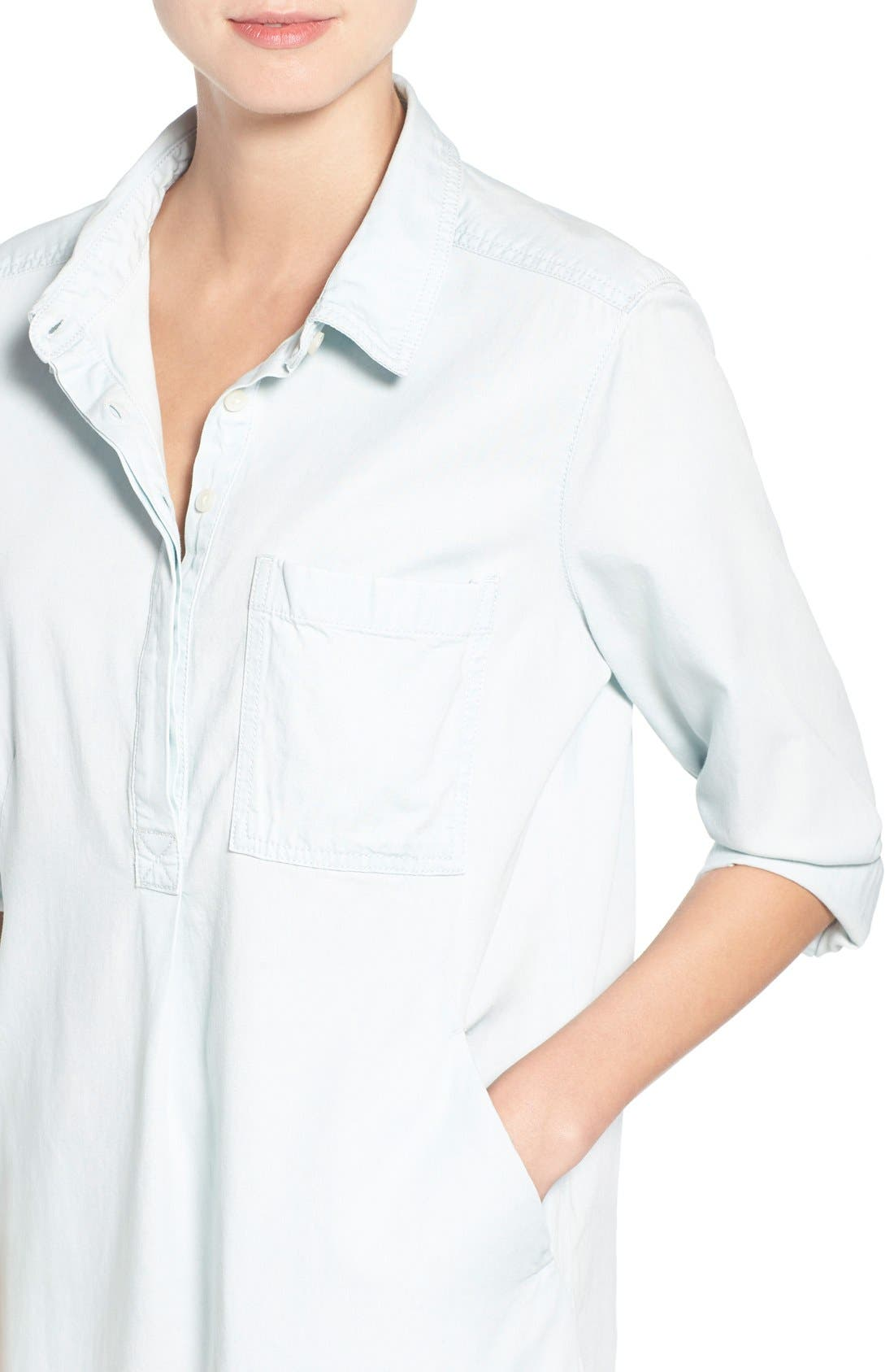 Alternate Image 4  - Caslon® Popover Shirtdress (Regular & Petite)