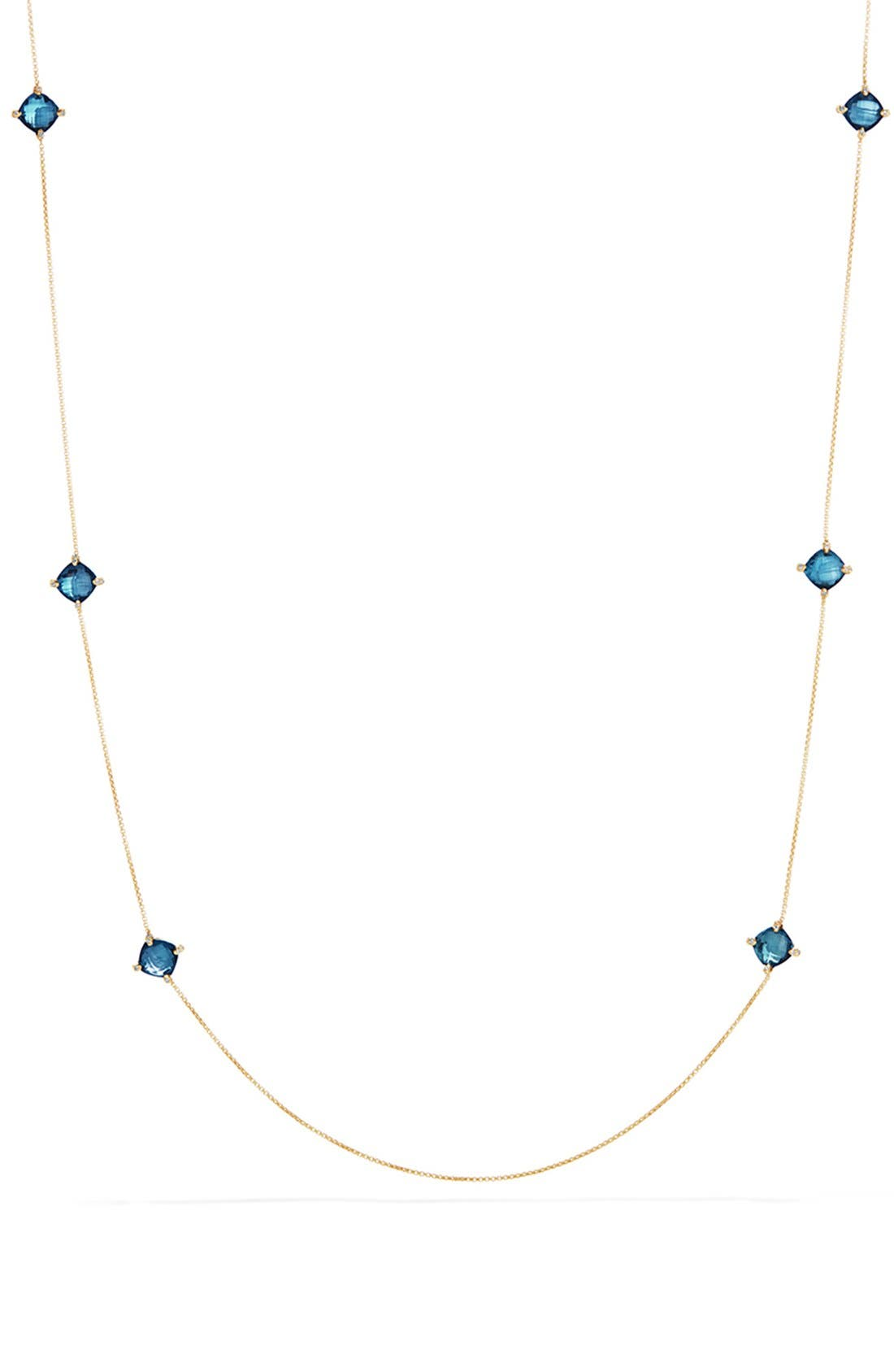 David Yurman 'Châtelaine' Long Semiprecious Stone Necklace with Diamonds