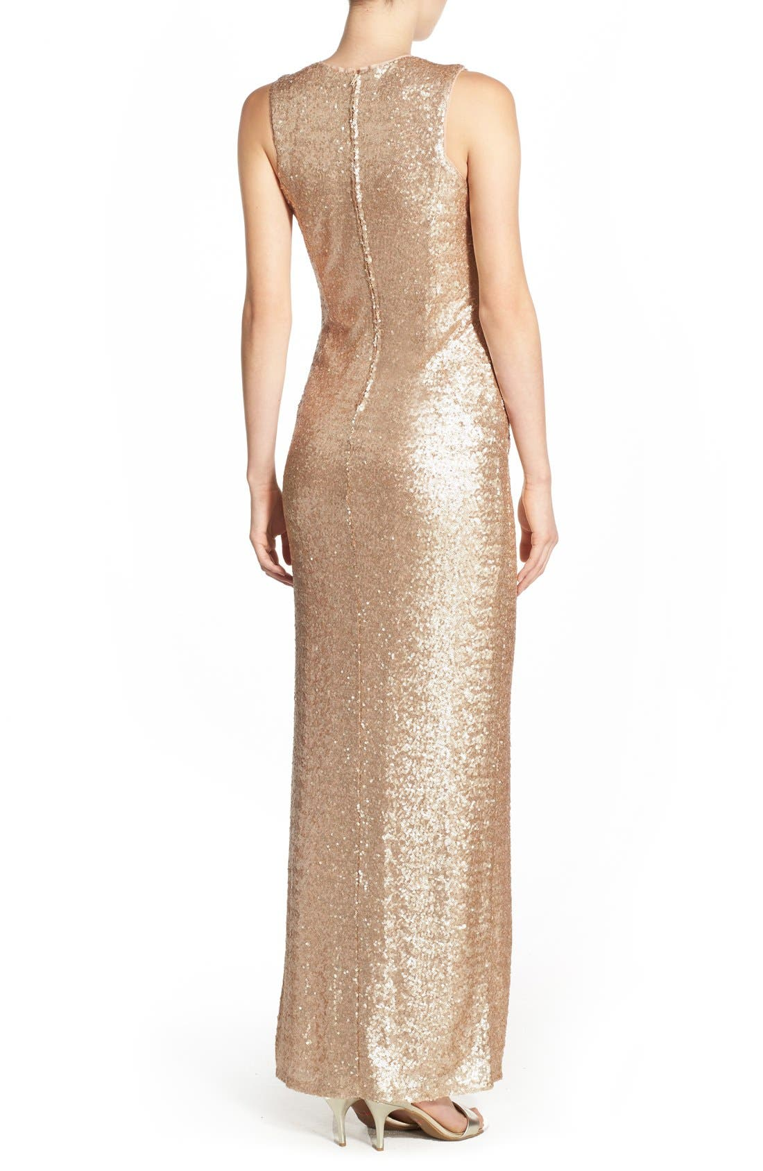 Alternate Image 2  - Love, Nickie Lew Sequin Sleeveless Gown