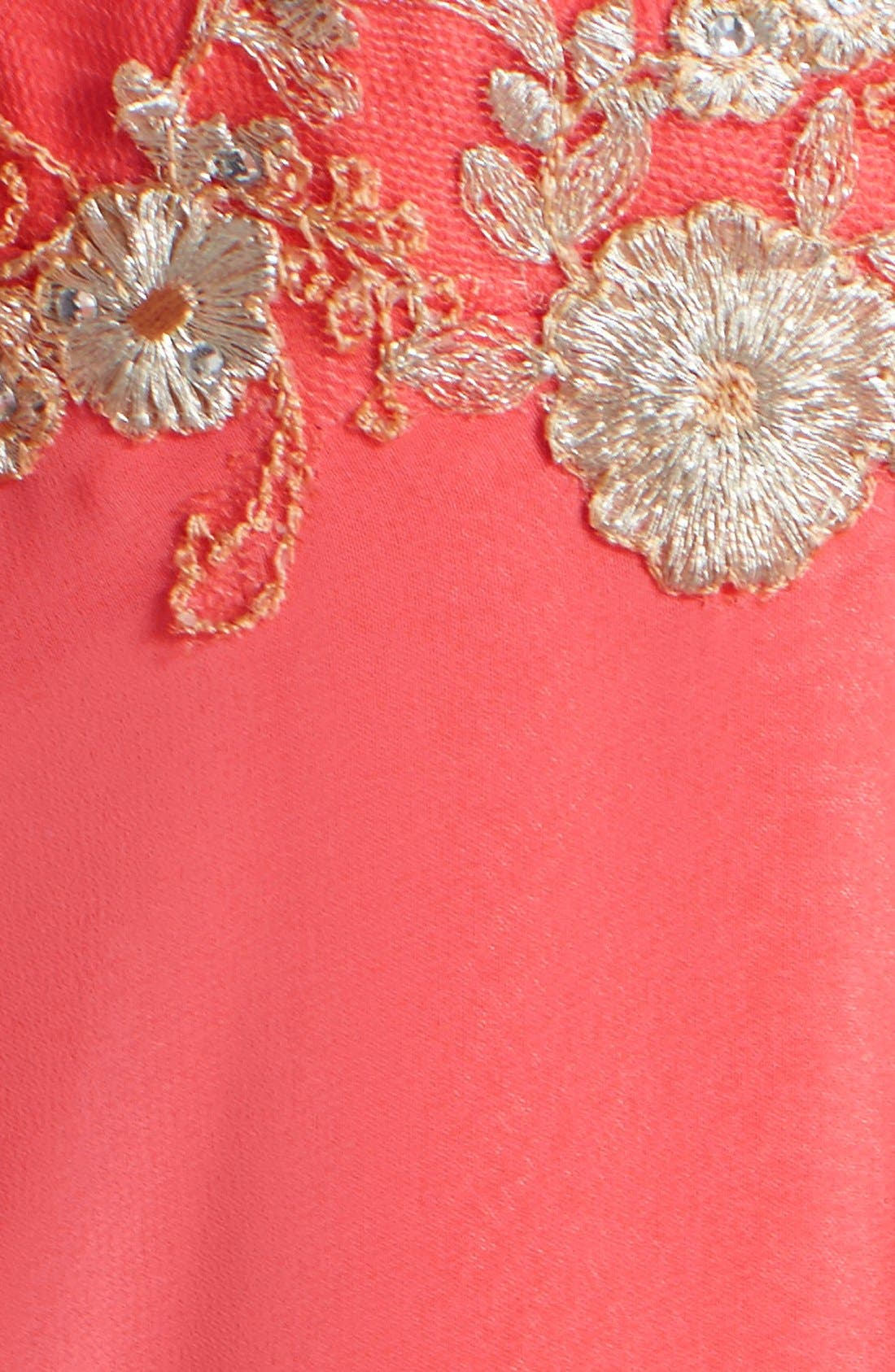 Alternate Image 5  - Faviana Embroidered Chiffon Gown